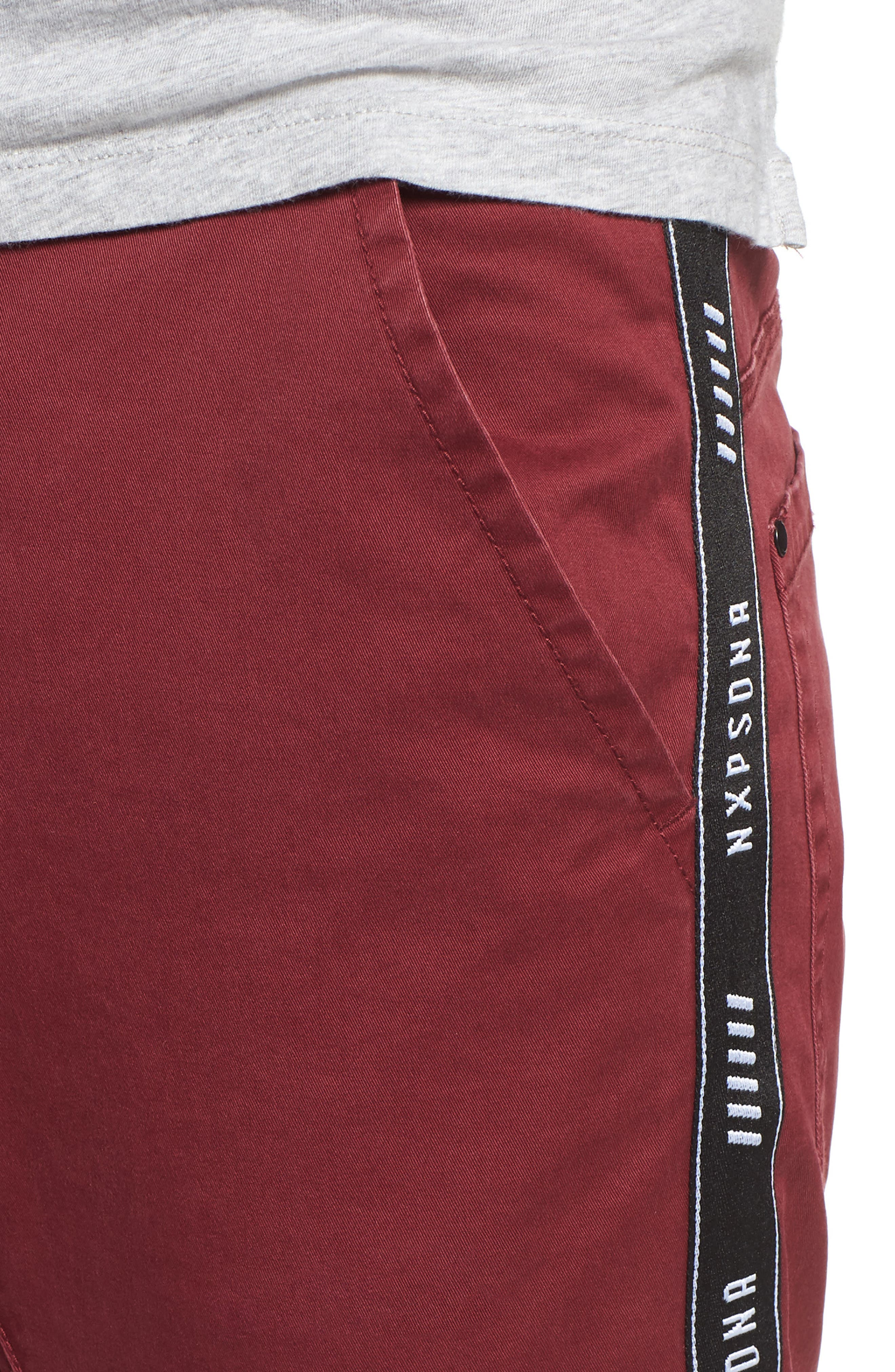 Firebrand Taped Chinos,                             Alternate thumbnail 4, color,                             BORDEAUX