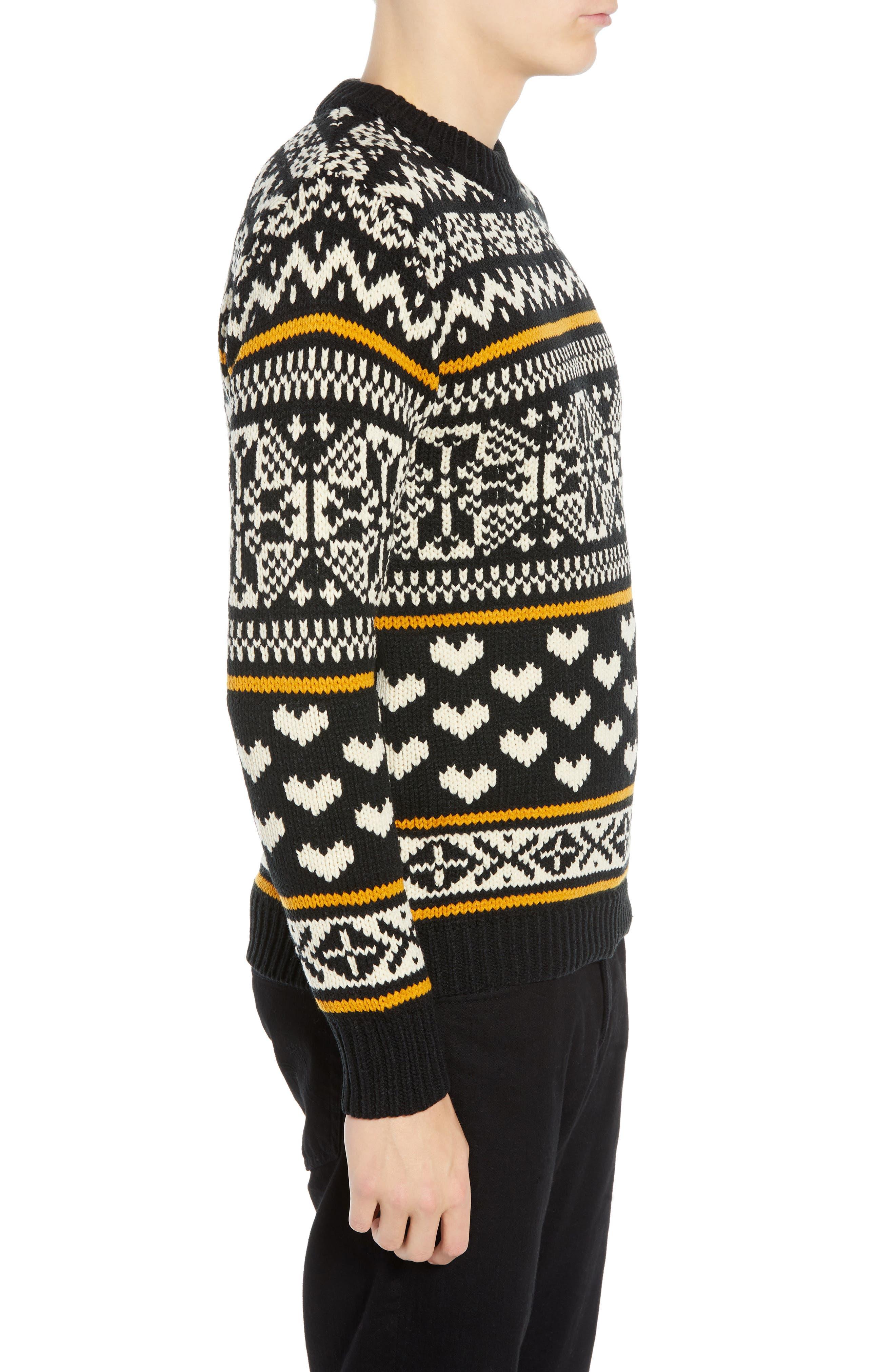 Chunky Fair Isle Sweater,                             Alternate thumbnail 3, color,                             COMBO B