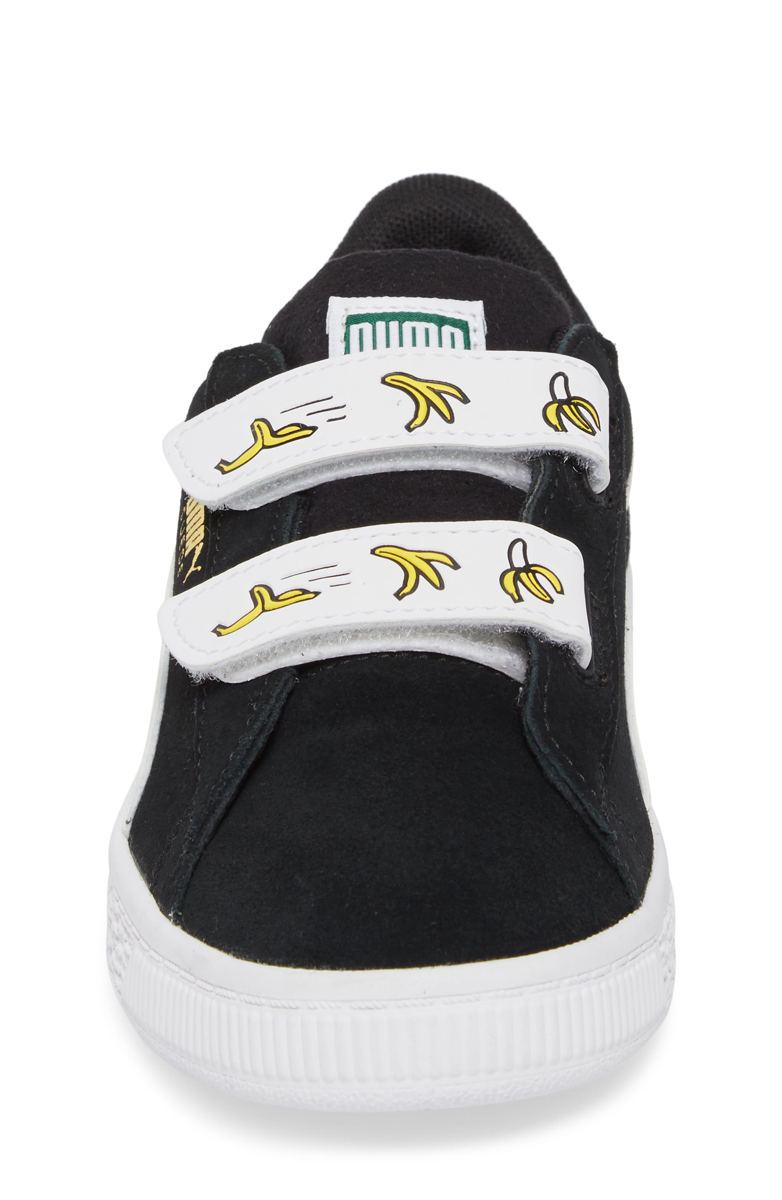 x Minions Suede V Sneaker,                             Alternate thumbnail 4, color,                             001