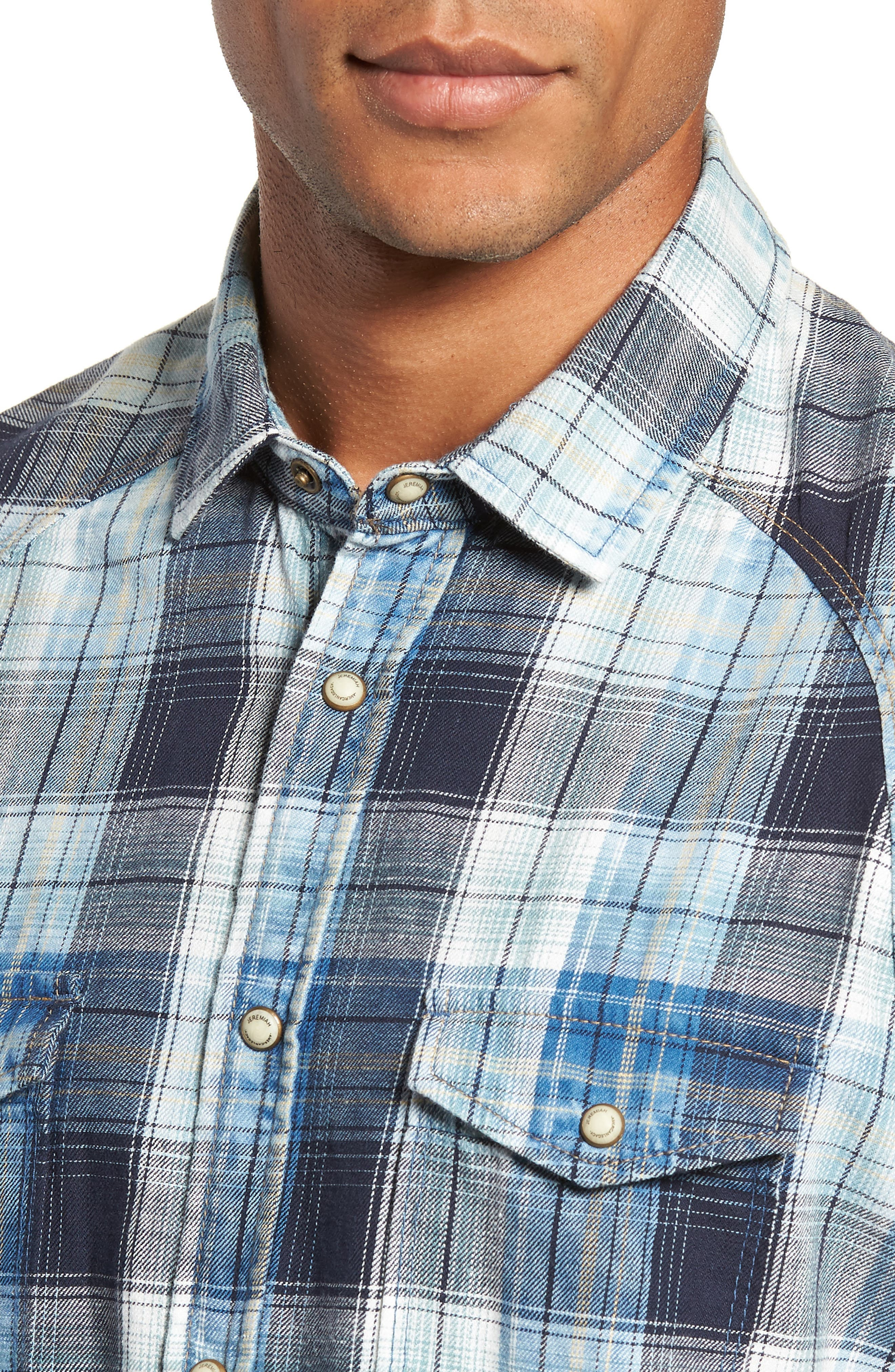 Sawtooth Regular Fit Crosshatch Plaid Shirt,                             Alternate thumbnail 2, color,                             ENSIGN BLUE
