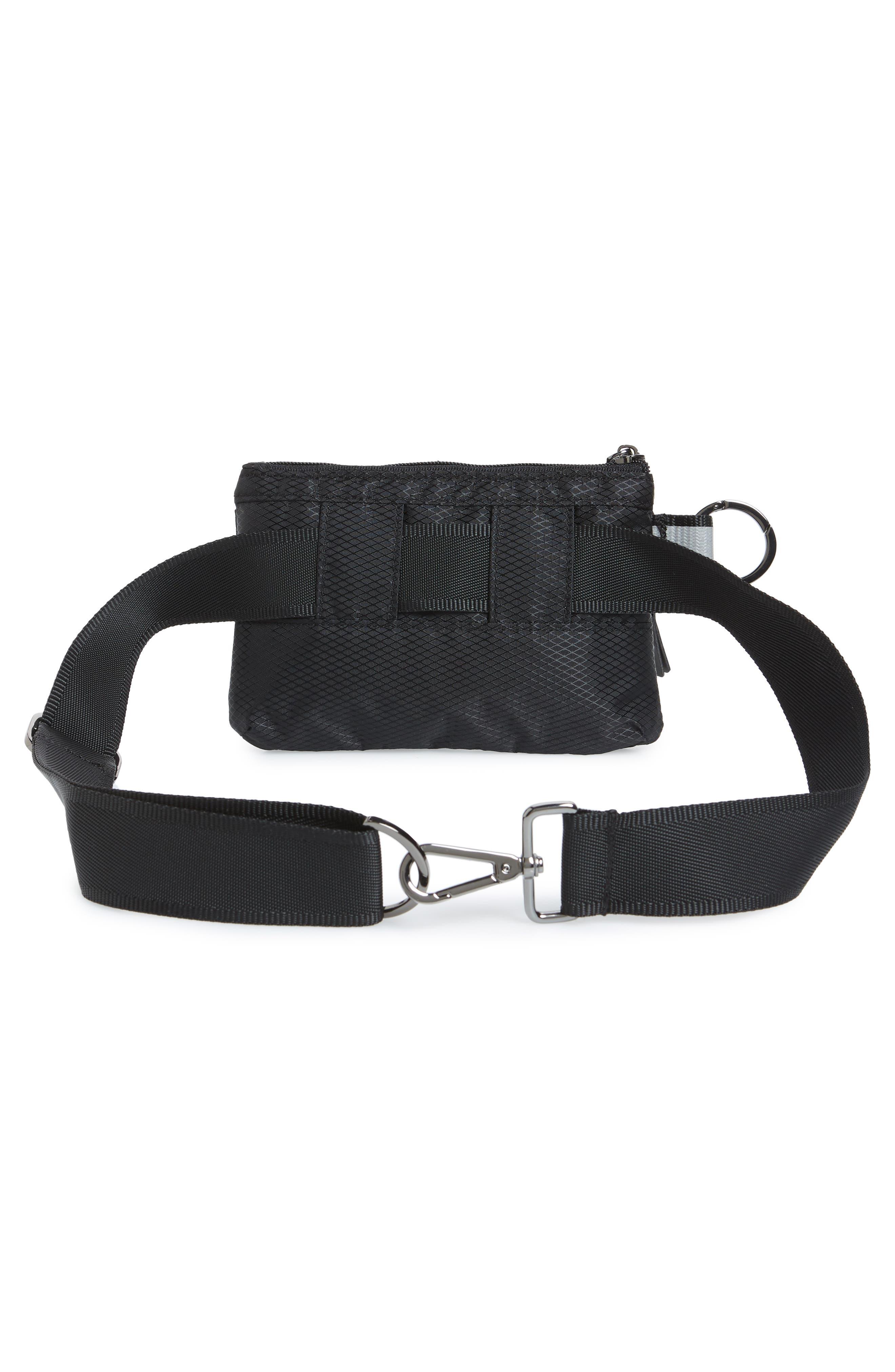 Urban Clutch Convertible Belt Bag,                             Alternate thumbnail 5, color,                             BLACK/ REFLECTIVE STRIPE