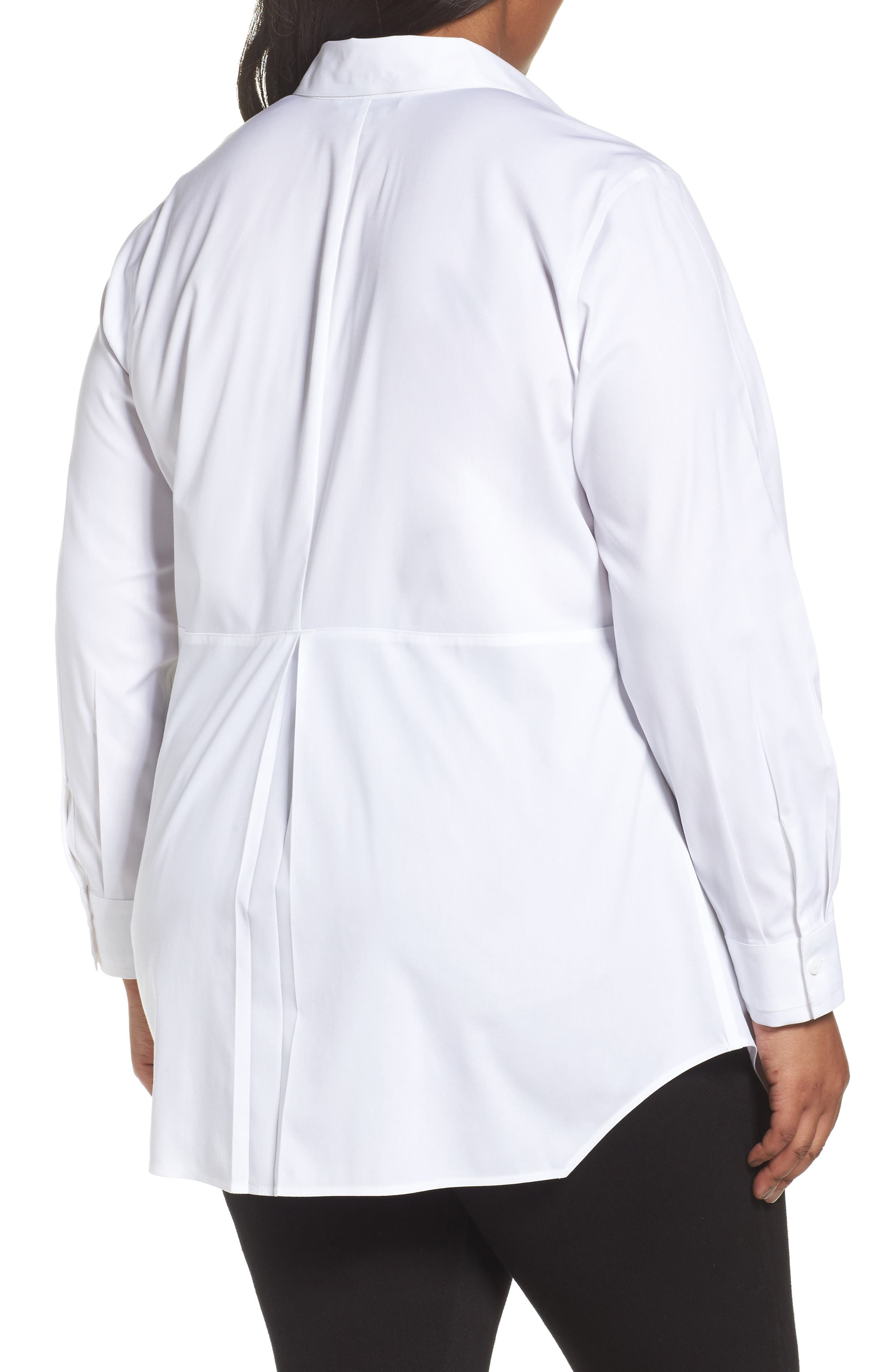 Sheri Stretch Cotton Shirt,                             Alternate thumbnail 2, color,                             100