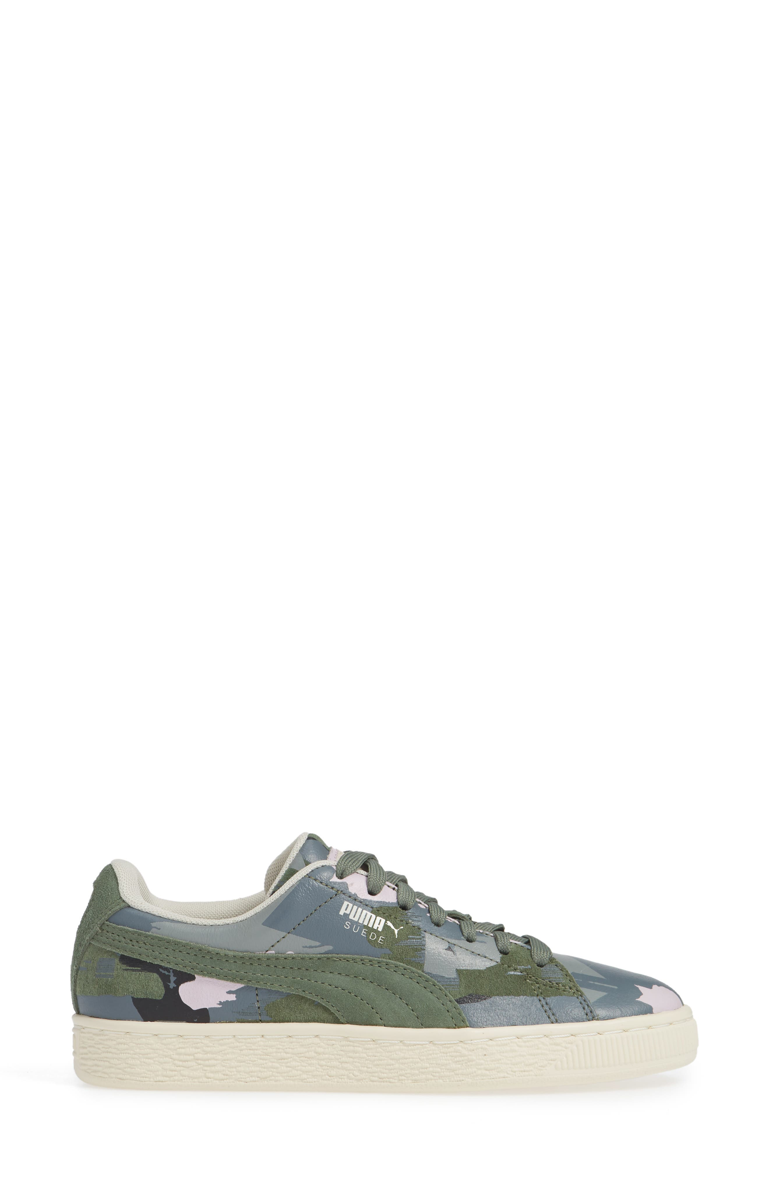'Suede Classic' Sneaker,                             Alternate thumbnail 3, color,                             301
