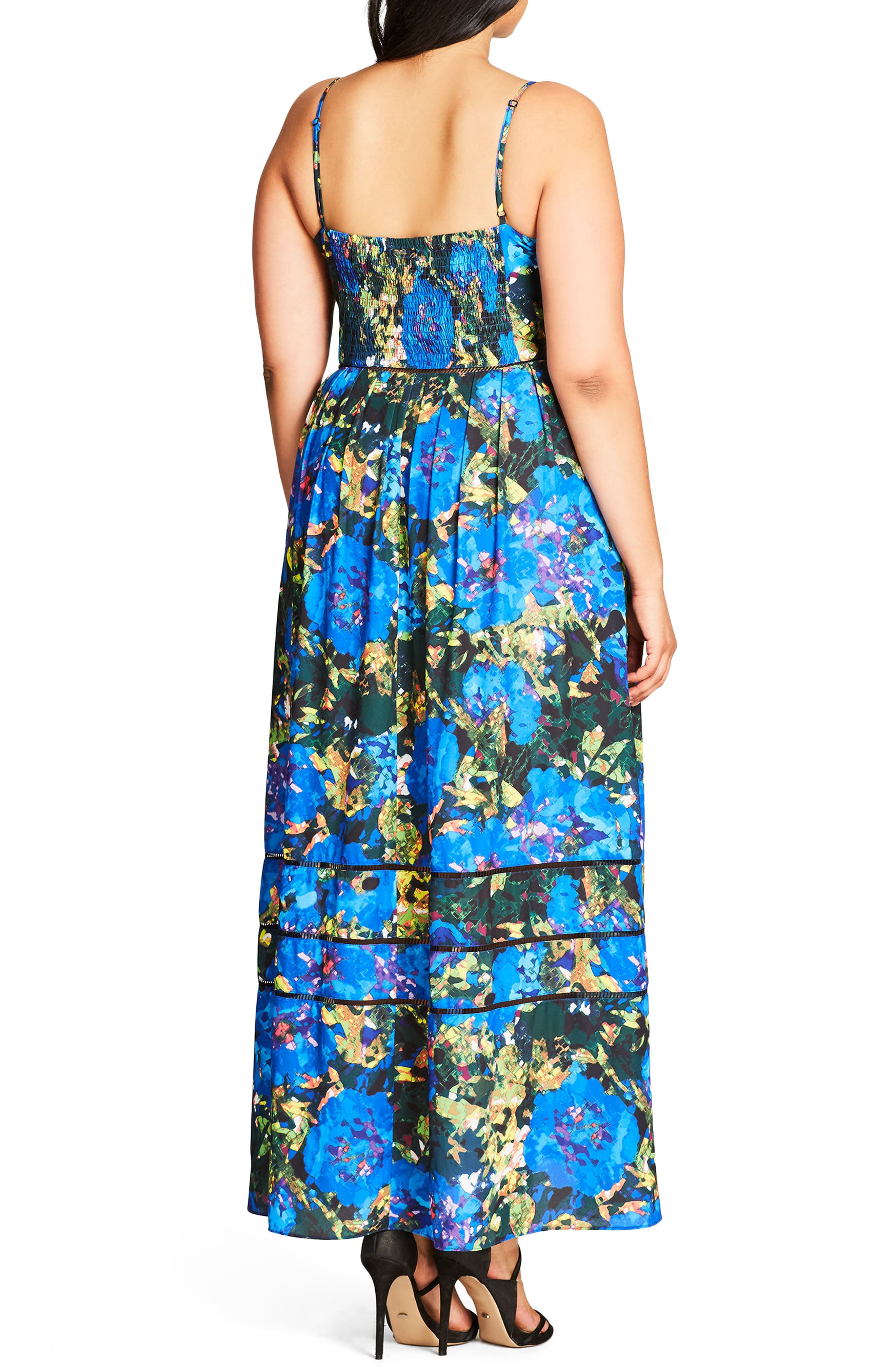 Stain Glass Print Maxi Dress,                             Alternate thumbnail 2, color,                             320