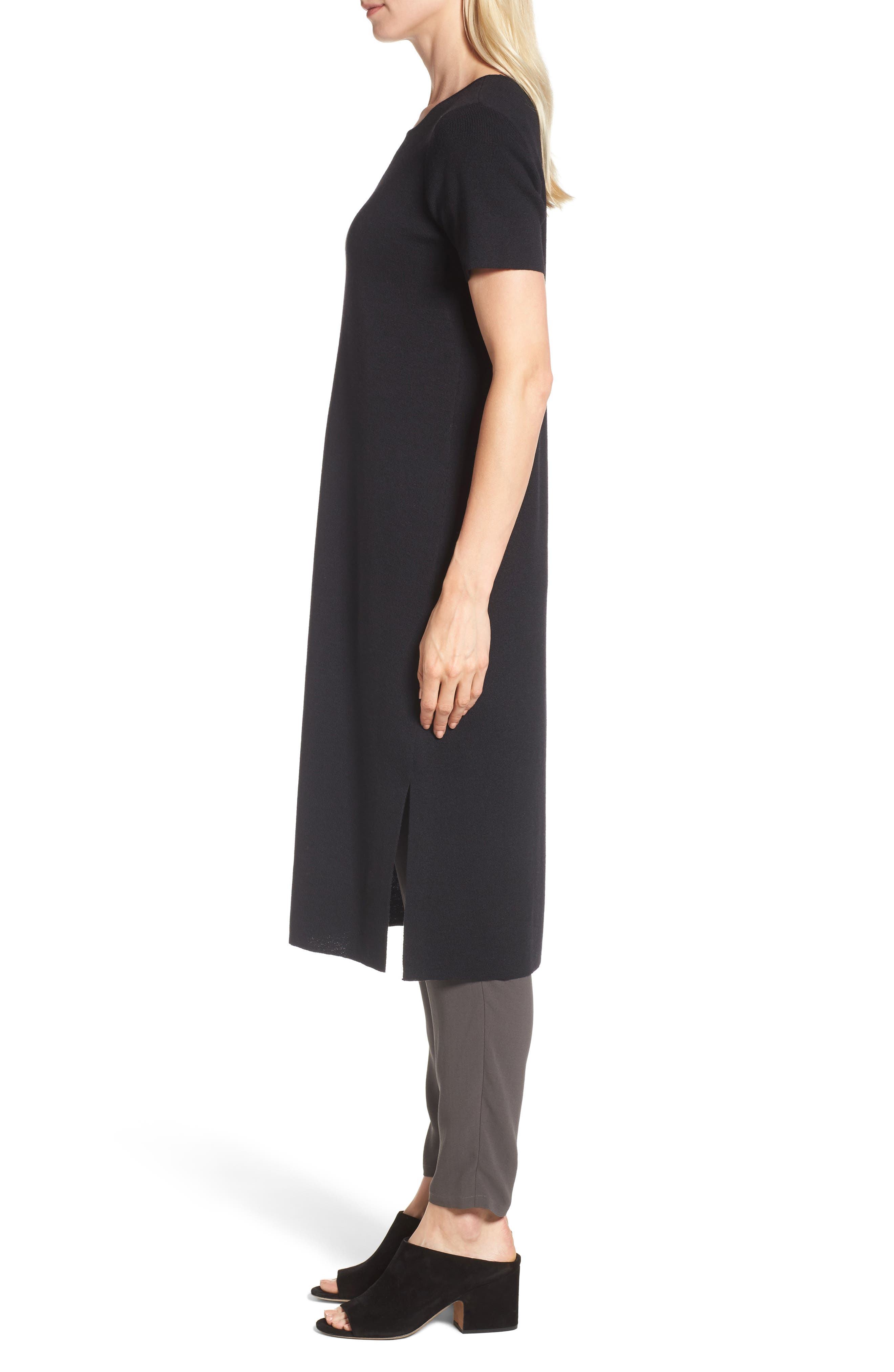 Long Wool Knit Tunic,                             Alternate thumbnail 5, color,