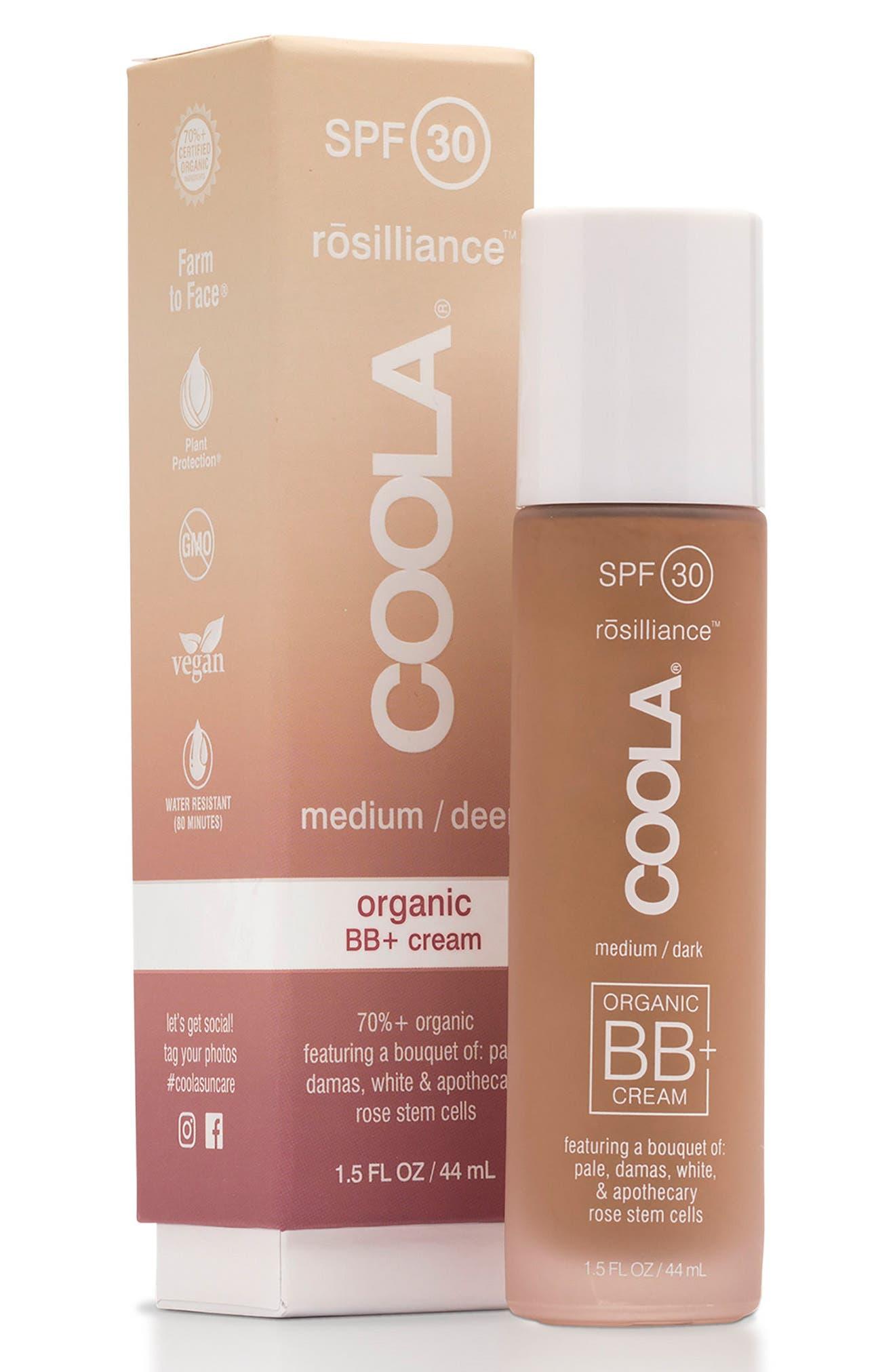COOLA<sup>®</sup> Suncare rosilliance<sup>™</sup> Mineral BB+ Cream SPF 30,                             Main thumbnail 1, color,                             MEDIUM DARK