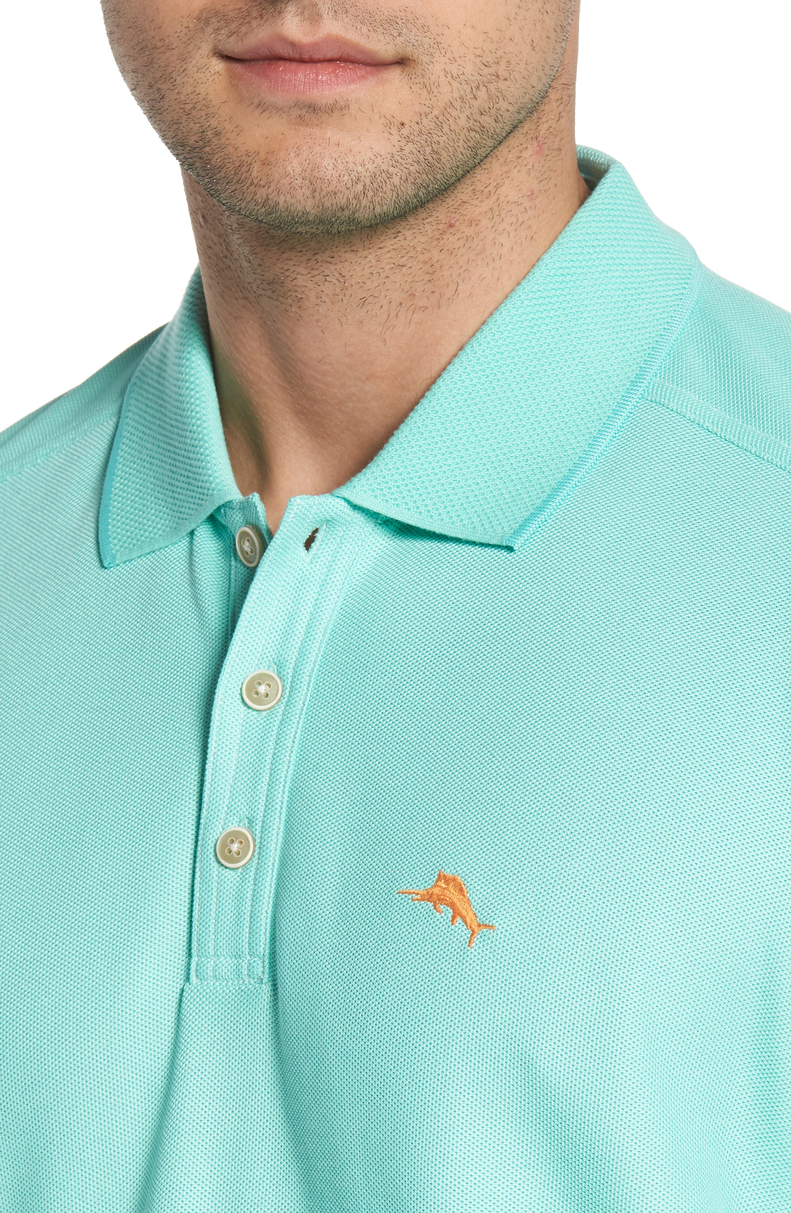 The Emfielder Piqué Polo,                             Alternate thumbnail 4, color,                             MINT MOJITO