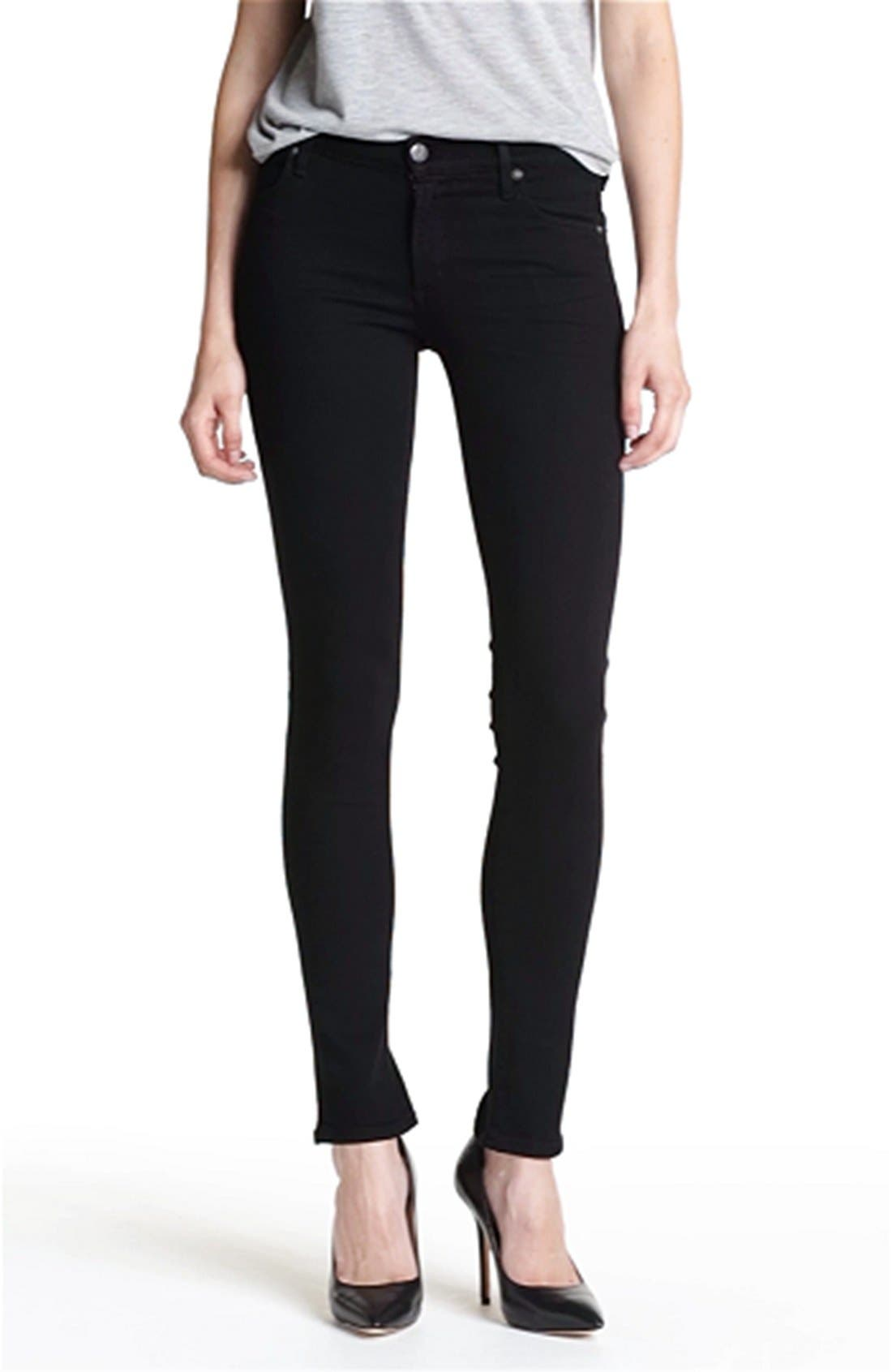 Skinny Stretch Leggings,                             Alternate thumbnail 3, color,                             010