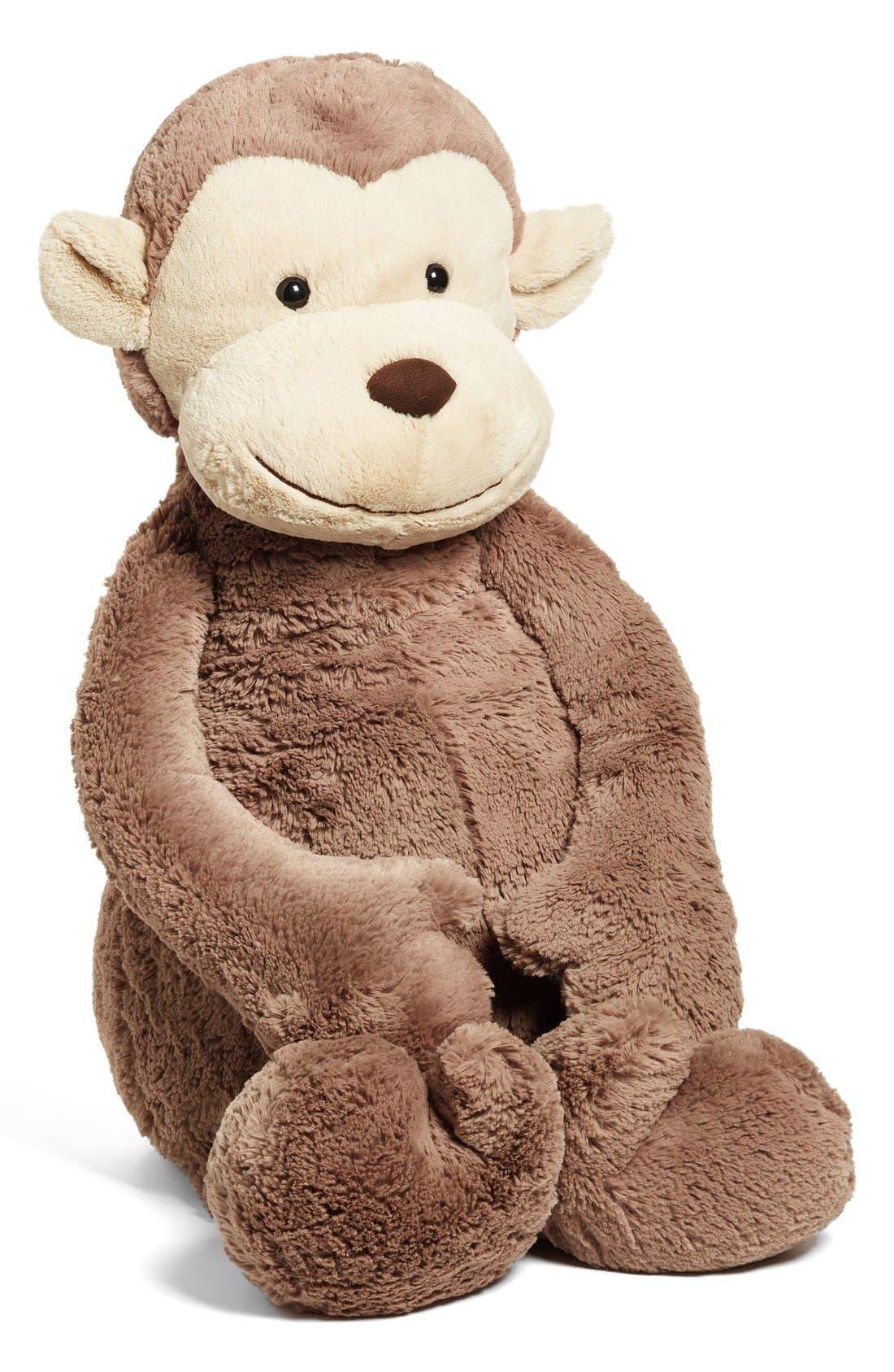 'Really Big Bashful Monkey' Stuffed Animal,                             Main thumbnail 1, color,                             BROWN