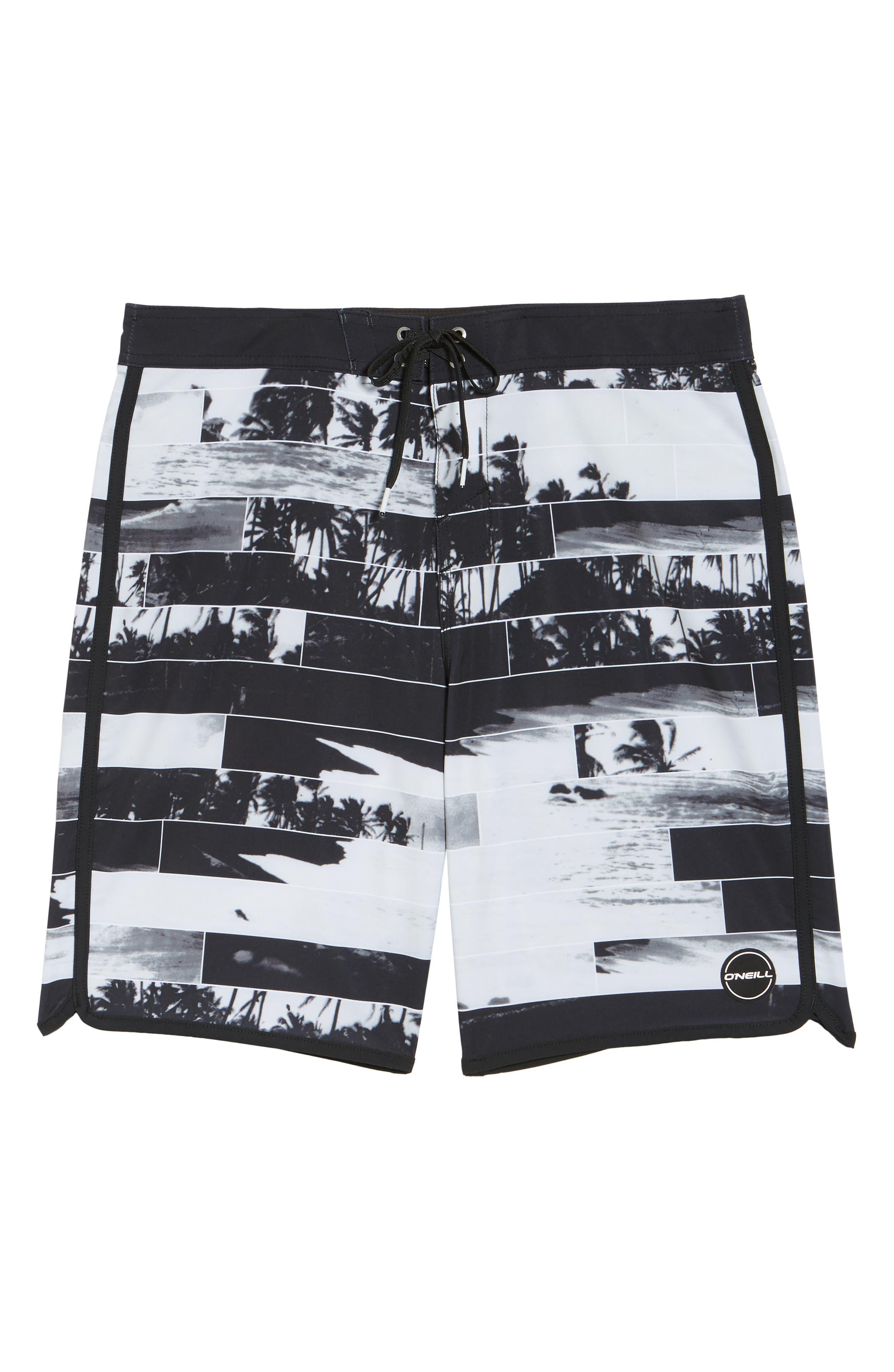 Hyperfreak Castaway Board Shorts,                             Alternate thumbnail 6, color,                             001