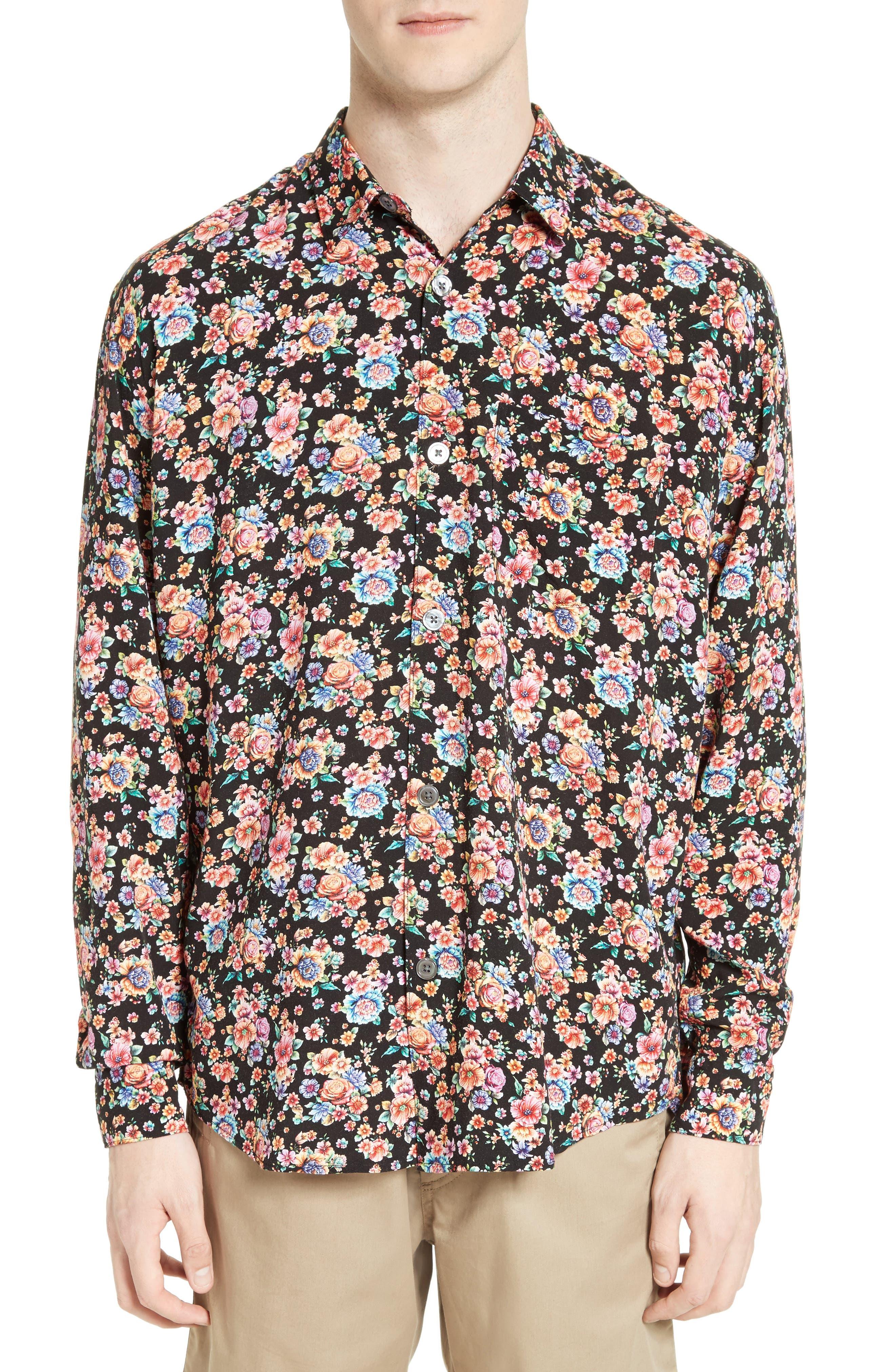 Floral Print Shirt,                             Main thumbnail 1, color,                             001