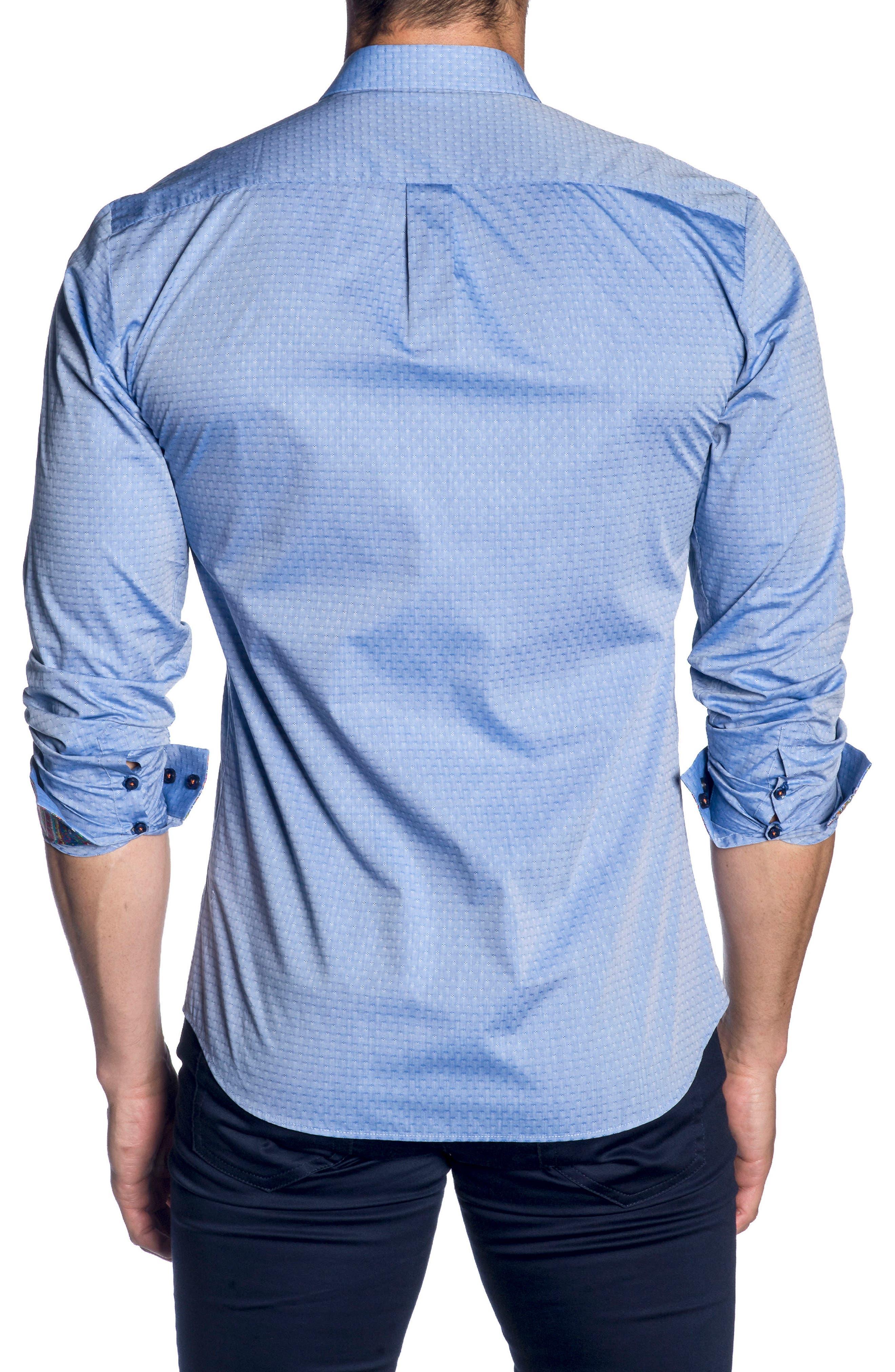JARED LANG,                             Trim Fit Sport Shirt,                             Alternate thumbnail 2, color,                             439
