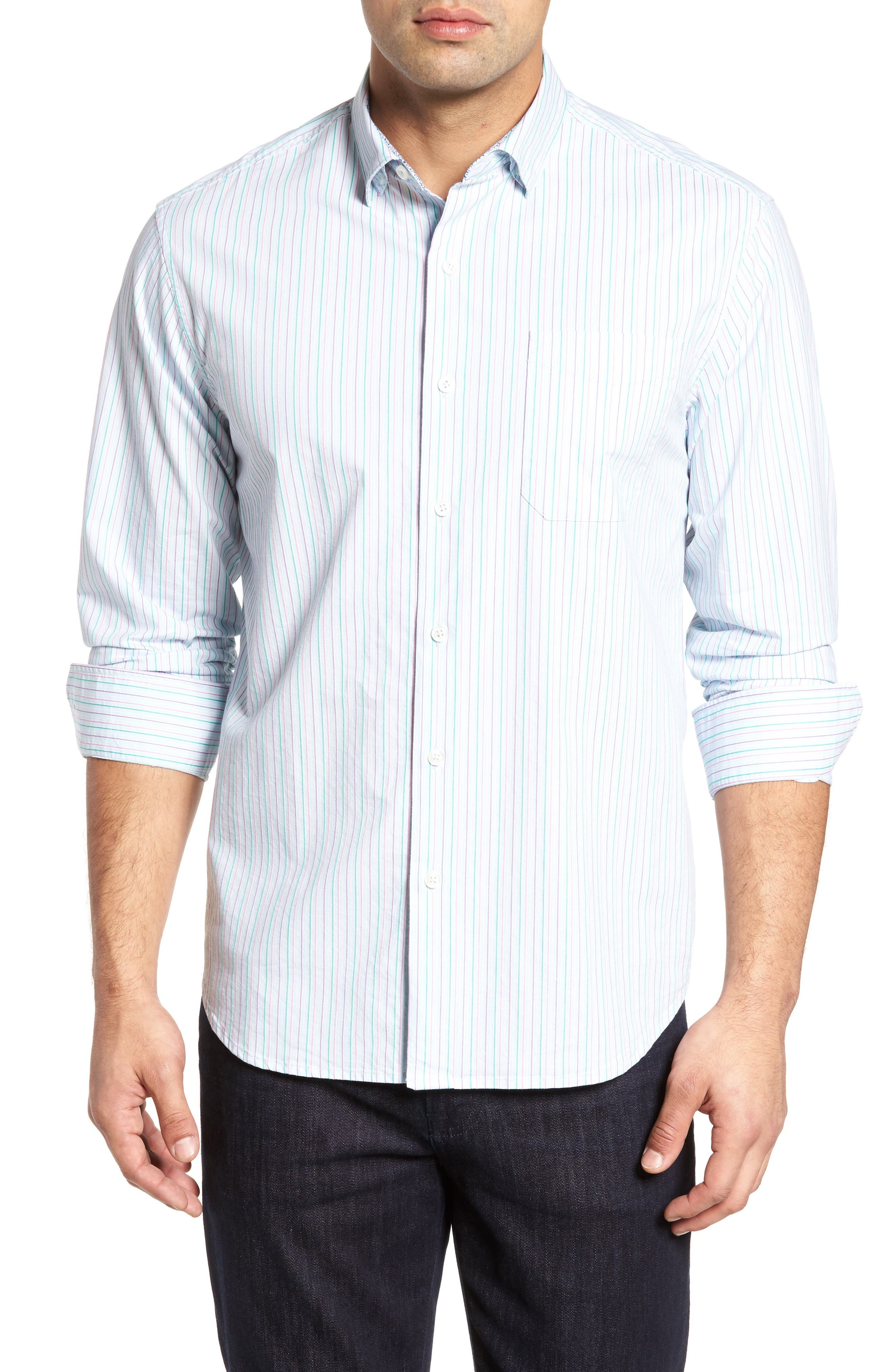 Tallahassee Cotton & Silk Blend Sport Shirt,                             Main thumbnail 1, color,                             400
