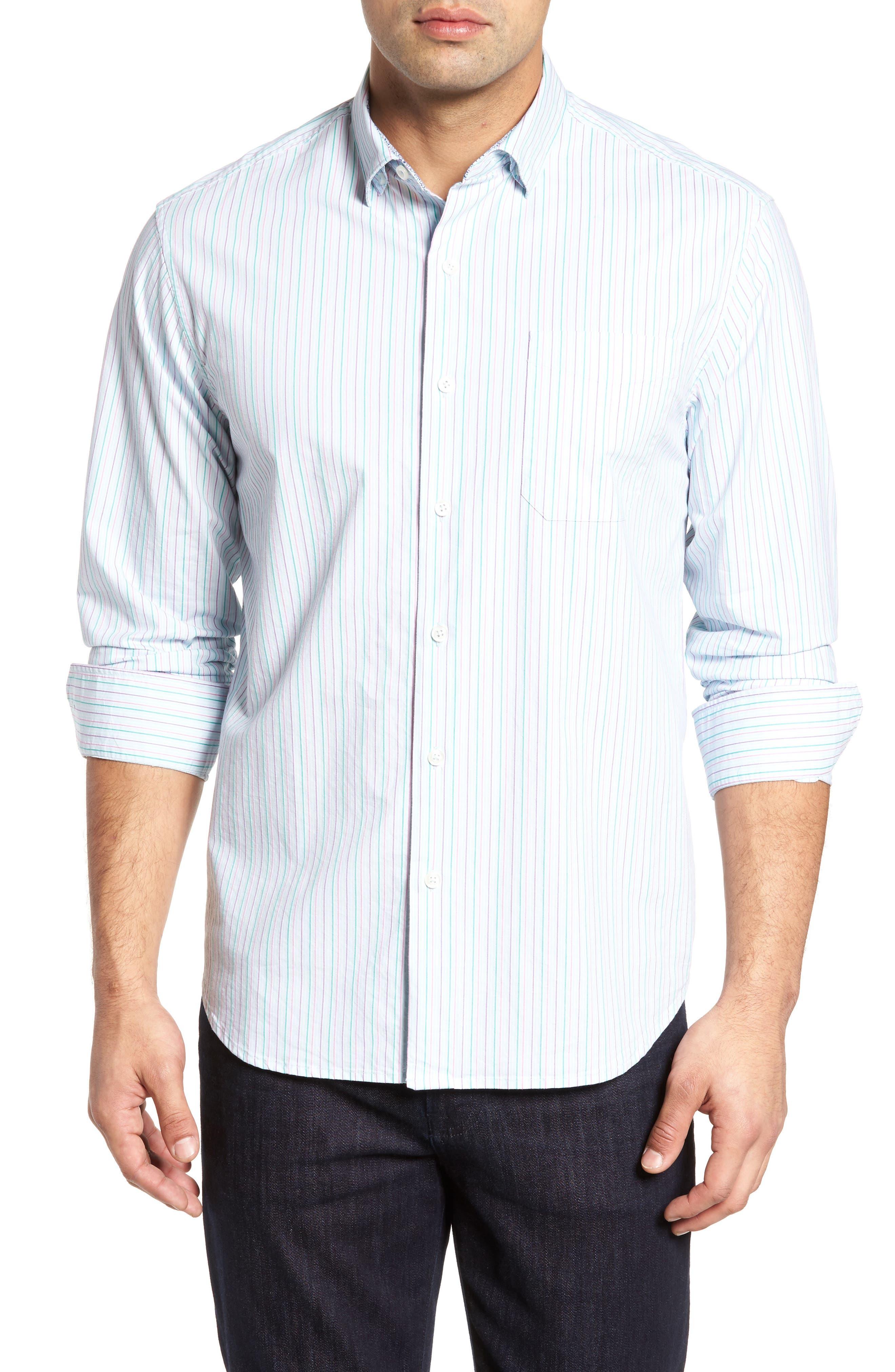 Tallahassee Cotton & Silk Blend Sport Shirt,                         Main,                         color, 400