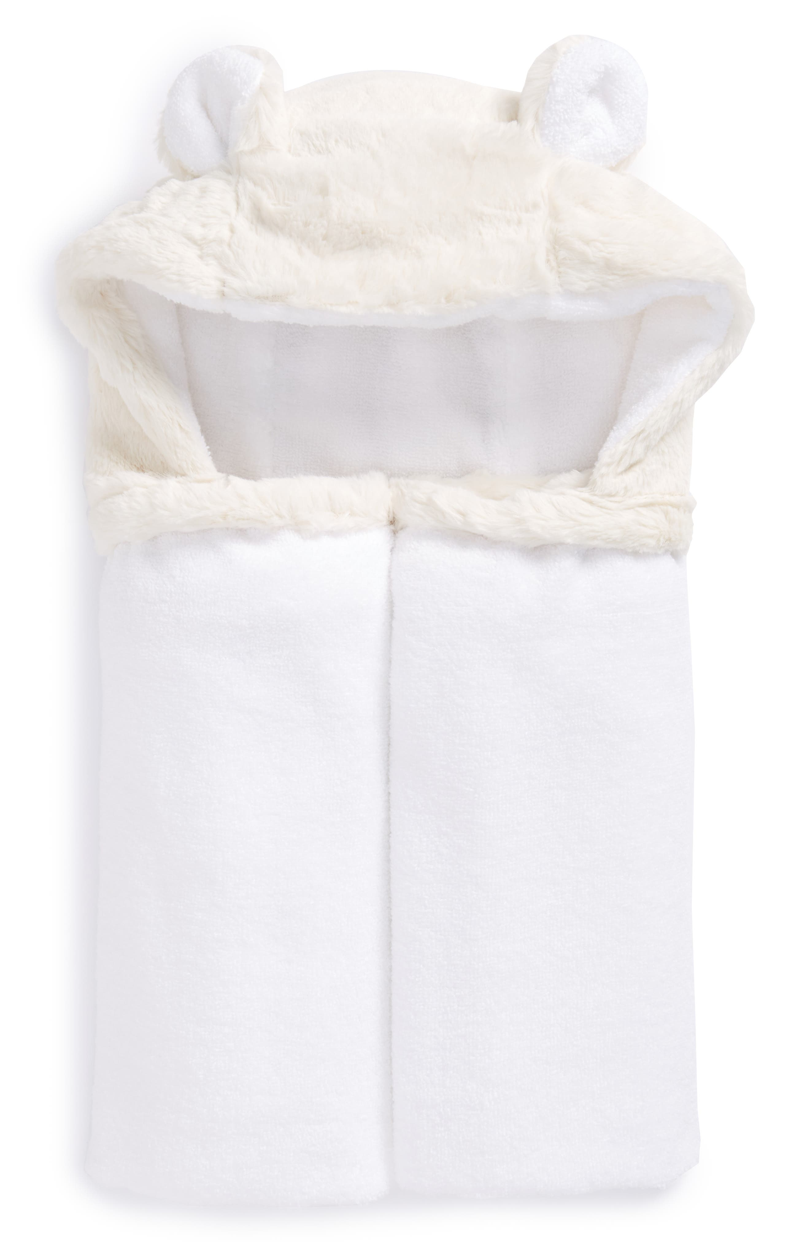 Luxe Hooded Towel,                             Main thumbnail 1, color,                             CREAM