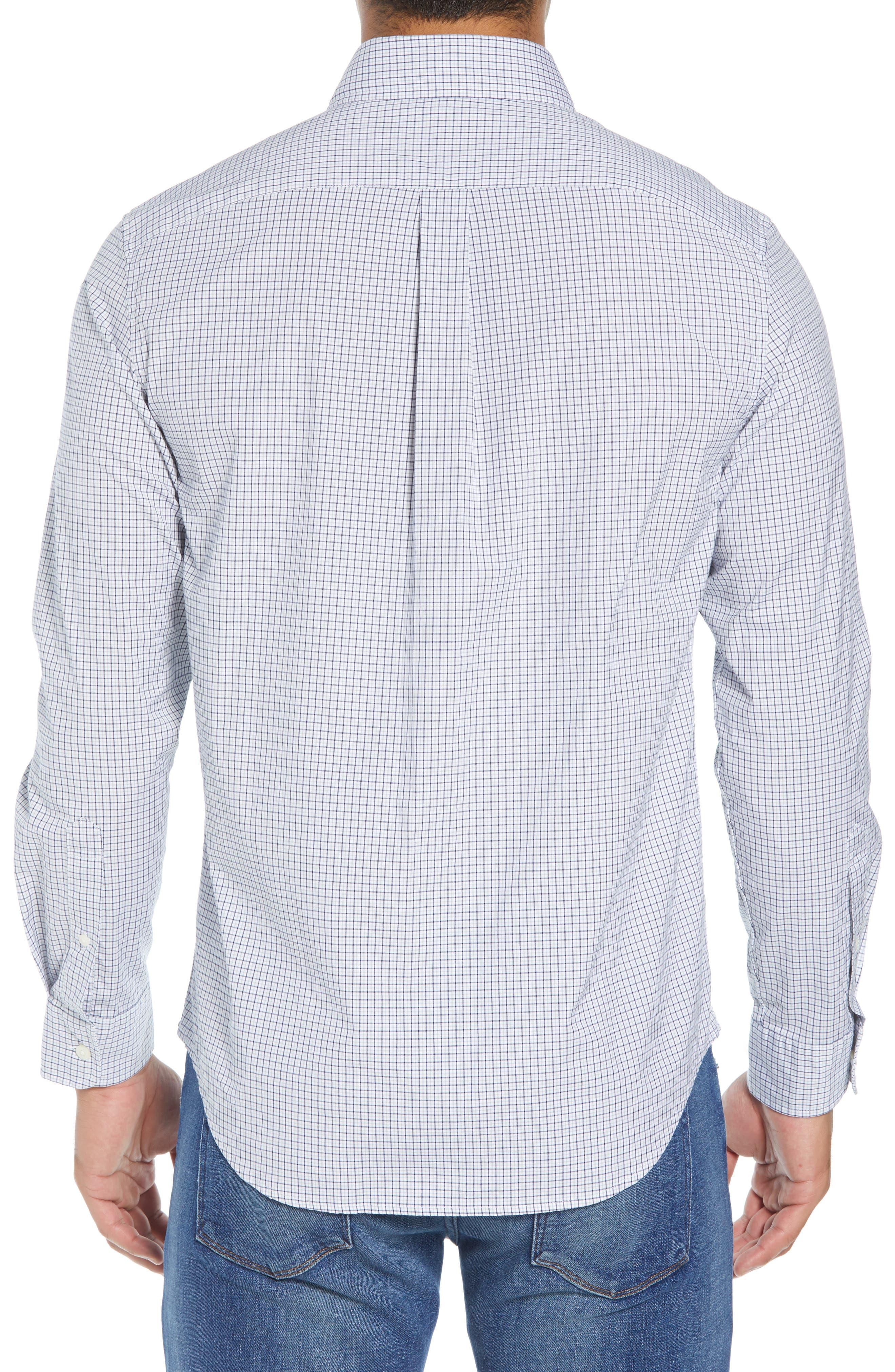 Beechcroft Regular Fit Check Sport Shirt,                             Alternate thumbnail 3, color,                             034