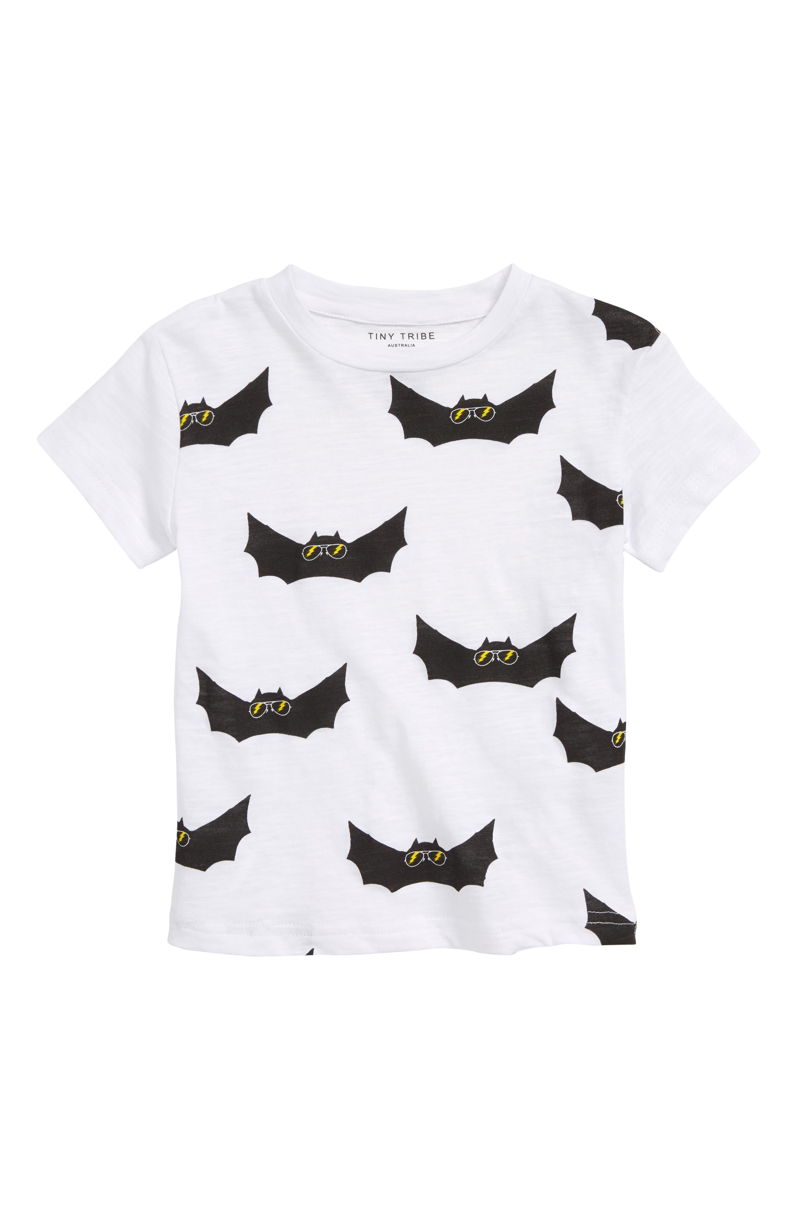 Electric Bat Print T-Shirt,                         Main,                         color, 100