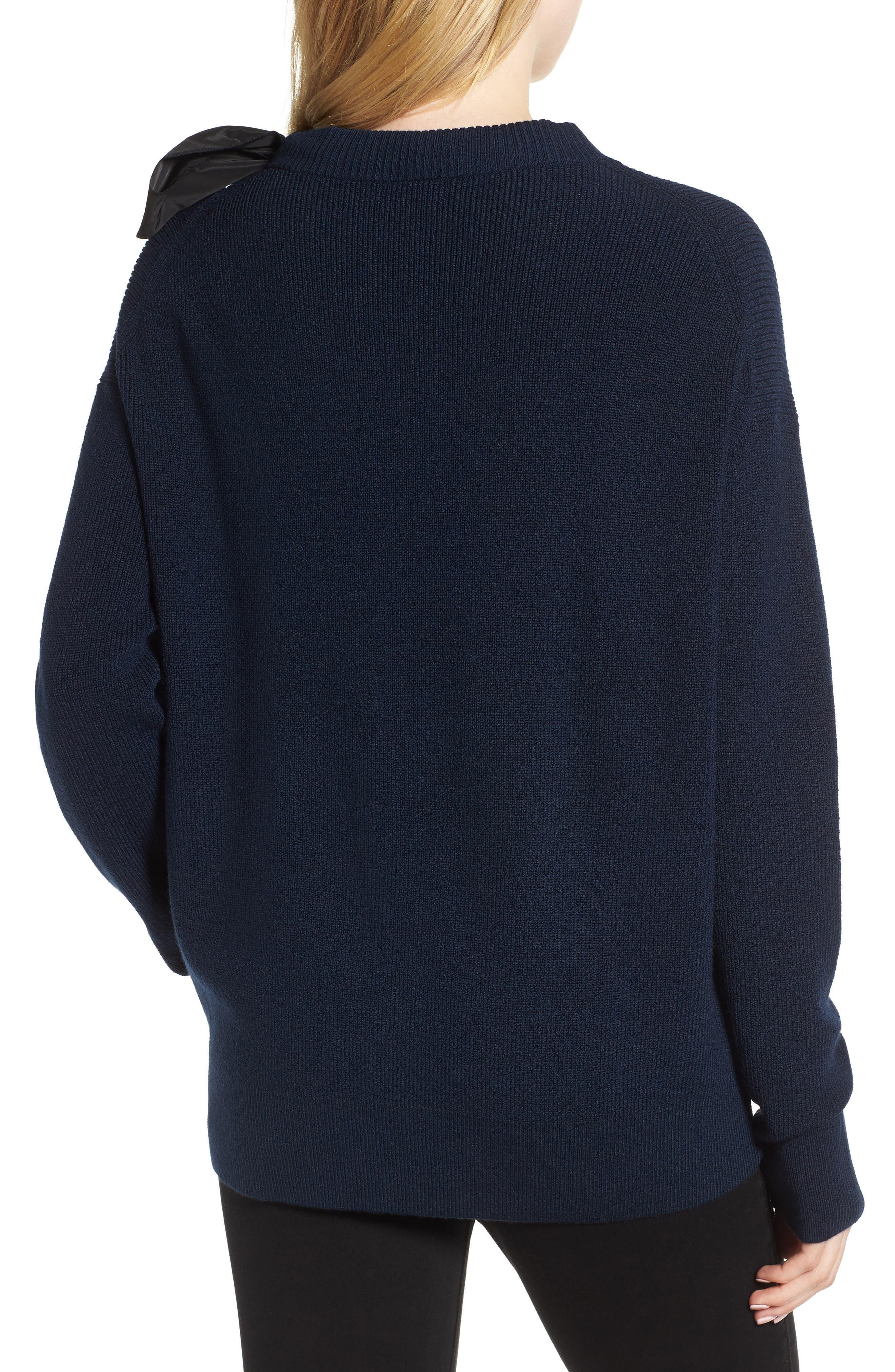 Bow Shoulder Sweater,                             Alternate thumbnail 2, color,                             410