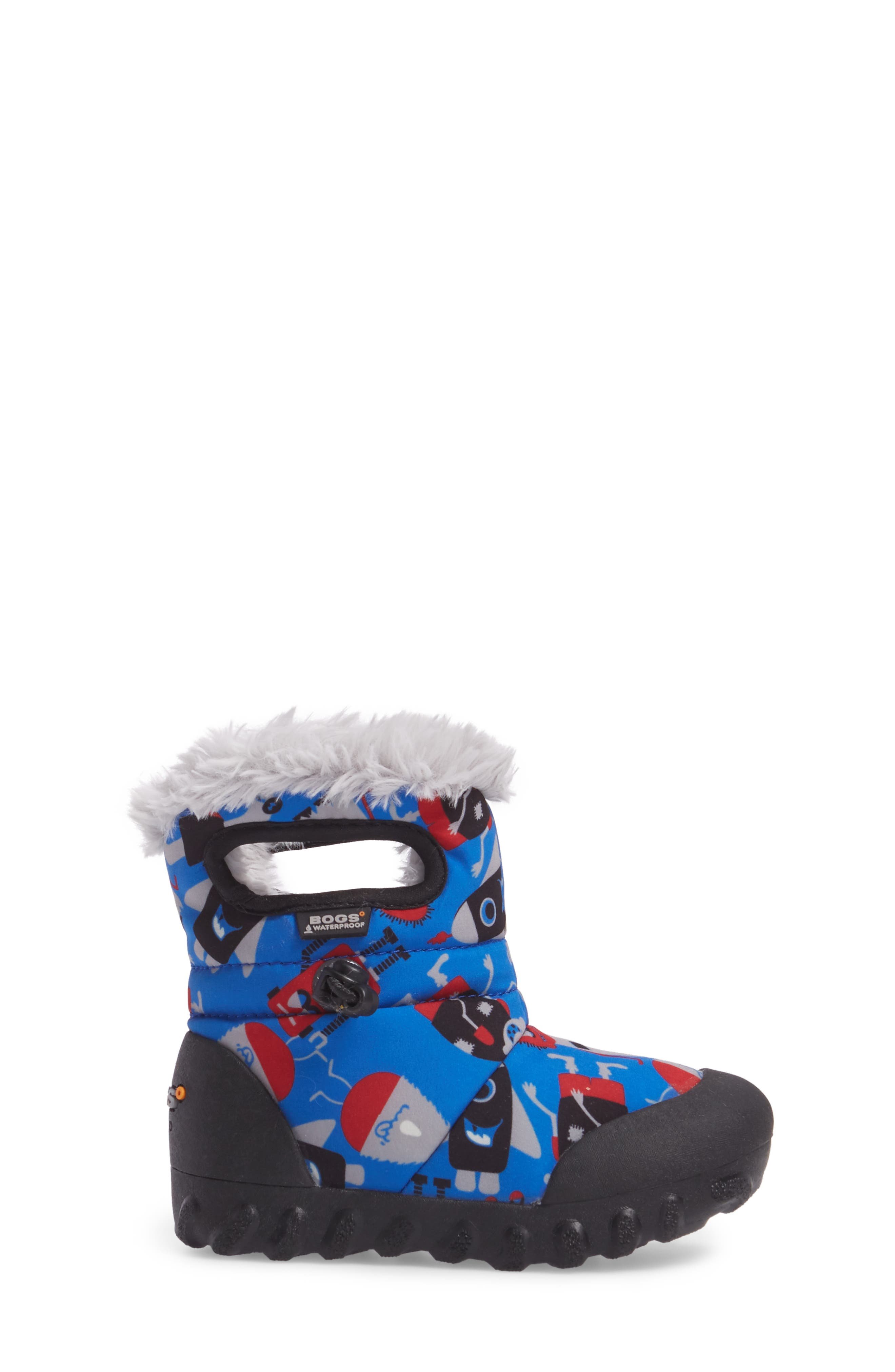 B-MOC Monsters Waterproof Insulated Faux Fur Winter Boot,                             Alternate thumbnail 3, color,                             409