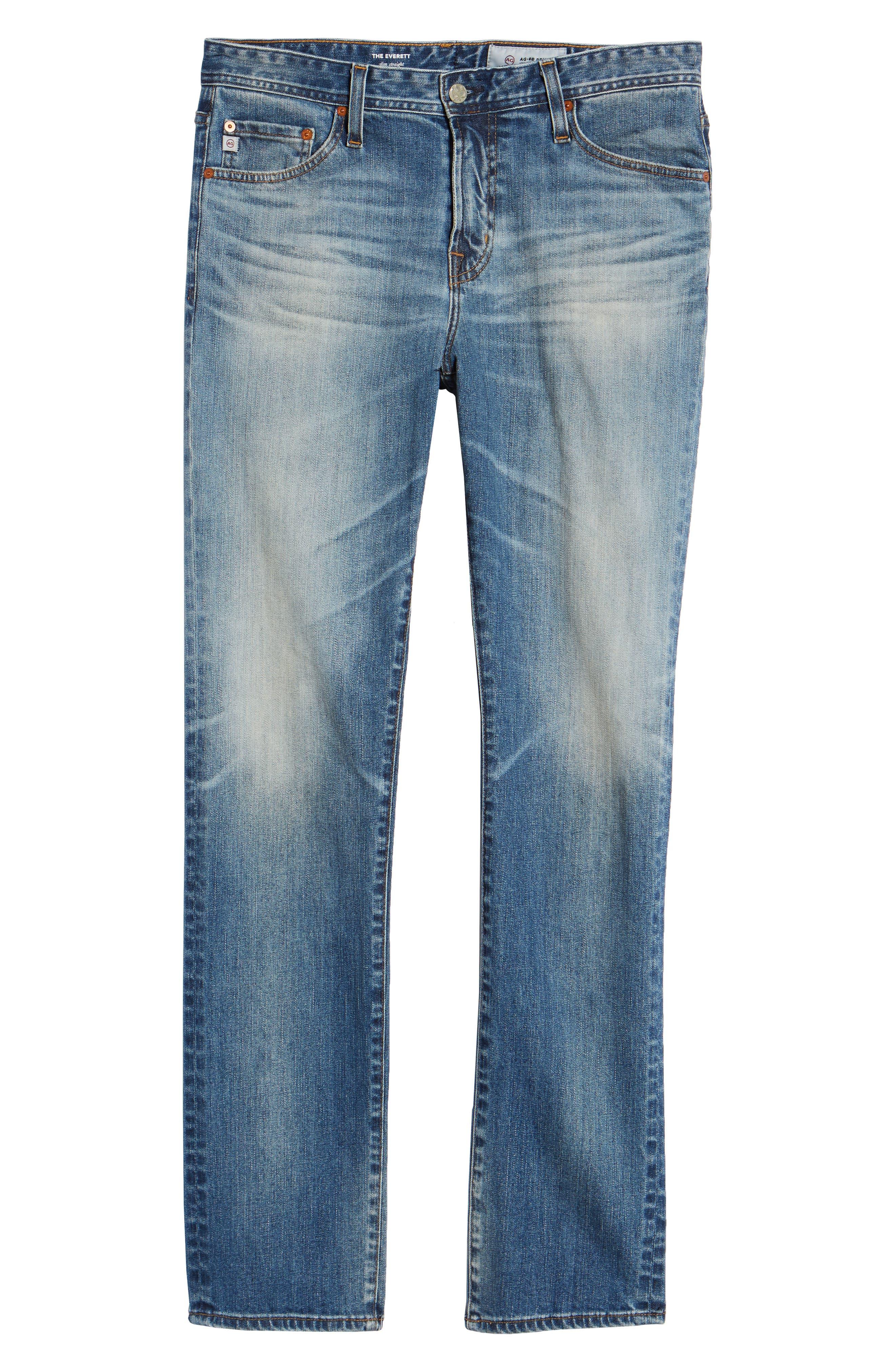 Everett Slim Straight Leg Jeans,                             Alternate thumbnail 6, color,                             21 YEARS SEIZE