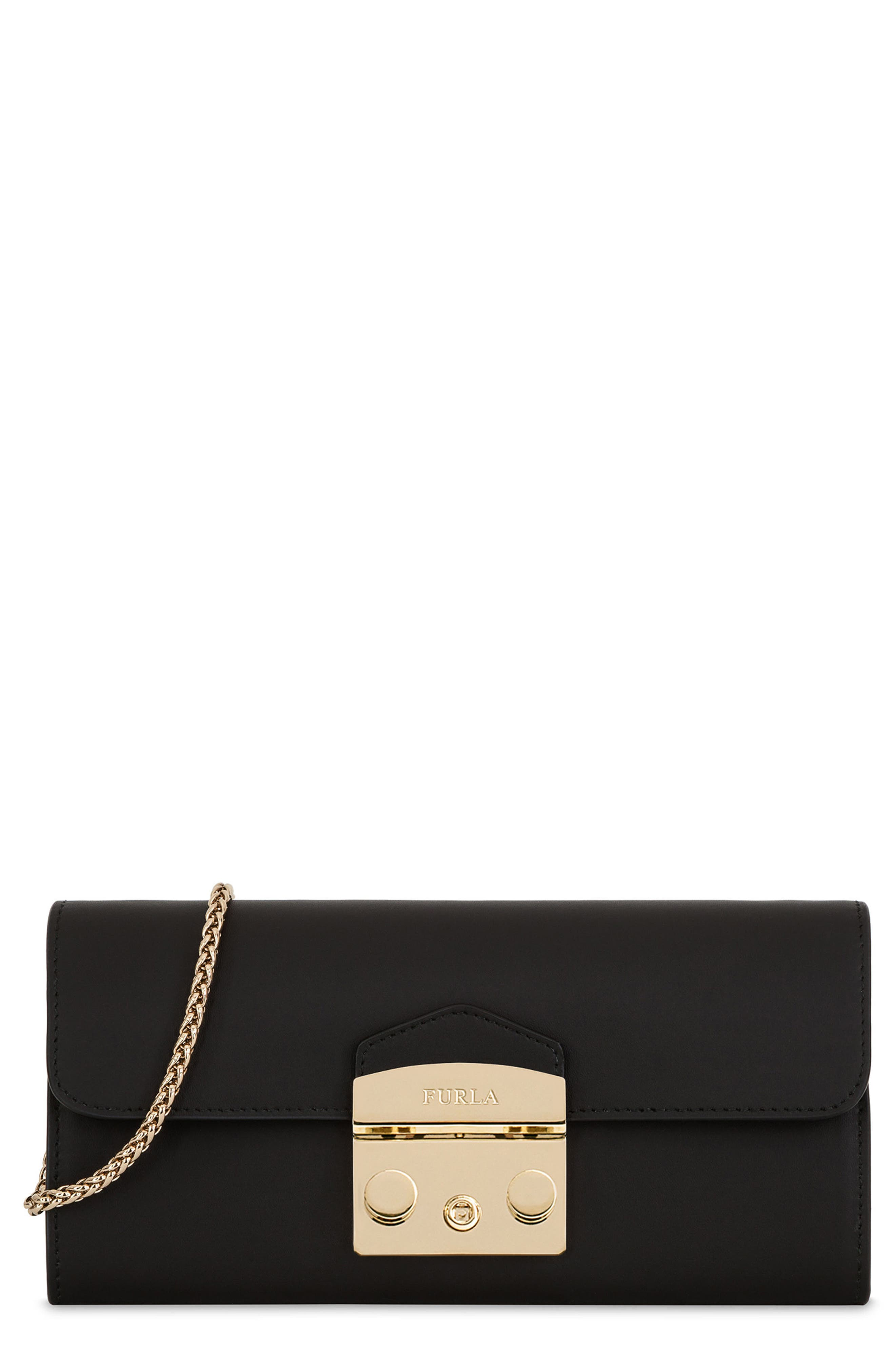 Metropolis Leather Wallet on a Chain,                         Main,                         color,