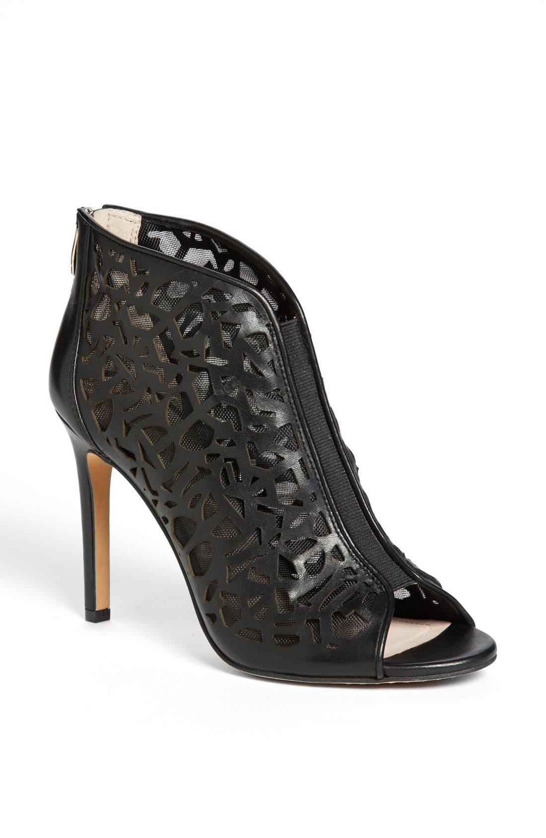 'Kalista' Peep Toe Leather Bootie,                         Main,                         color,