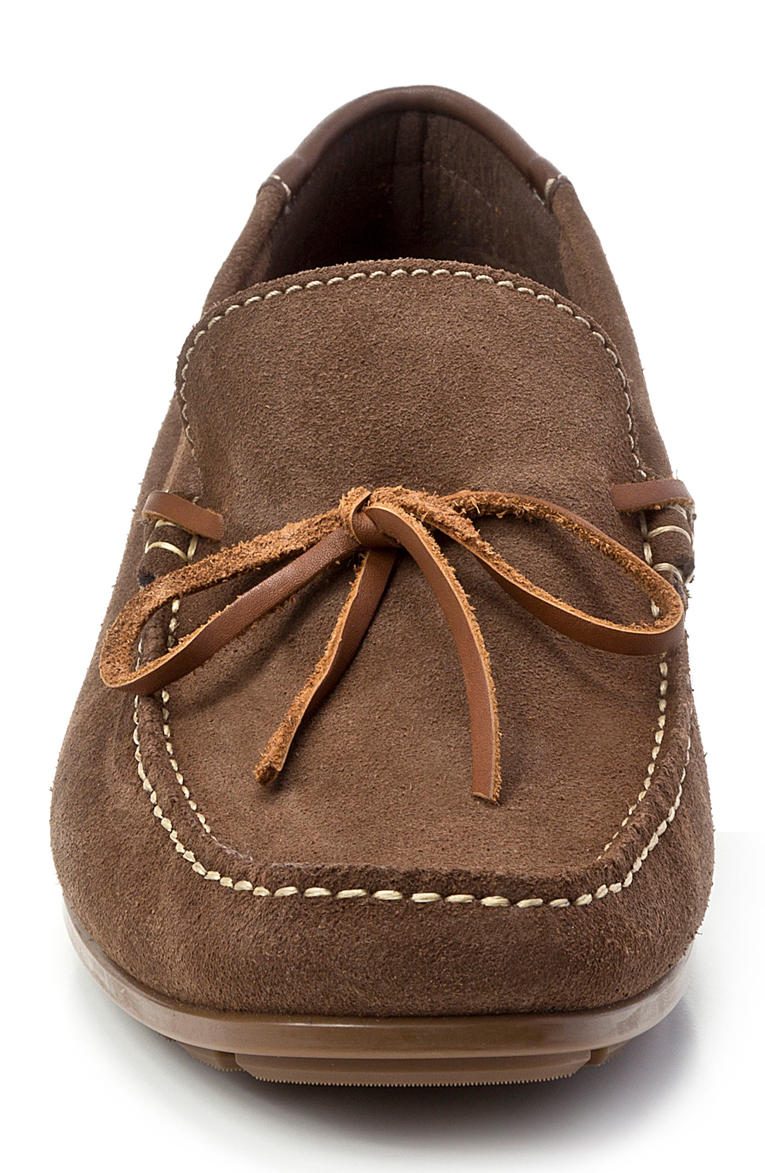 Andres Driving Moccasin,                             Alternate thumbnail 4, color,                             BROWN