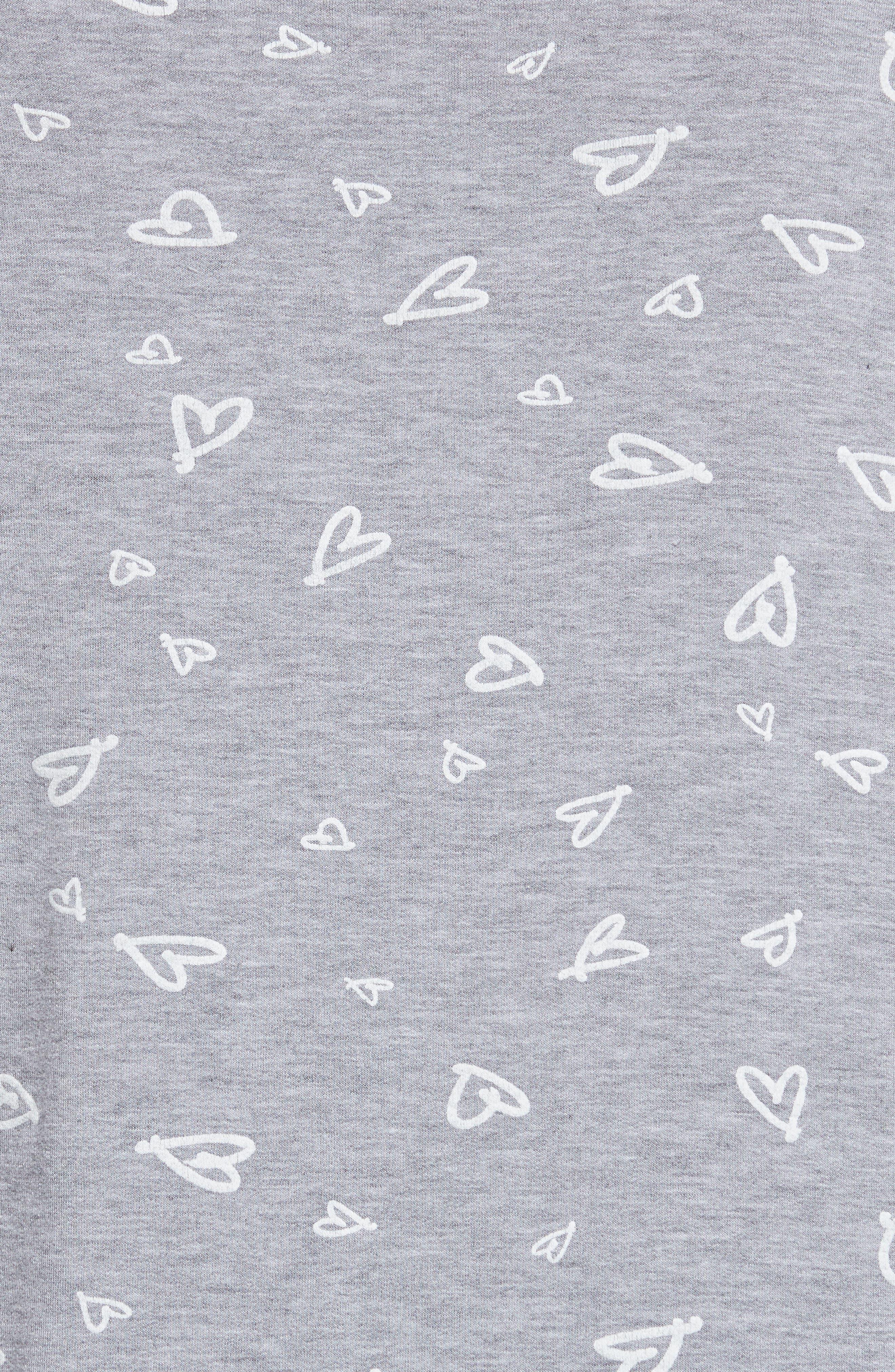 Annora B Print Cotton & Modal Blend Sweatshirt,                             Alternate thumbnail 5, color,                             071