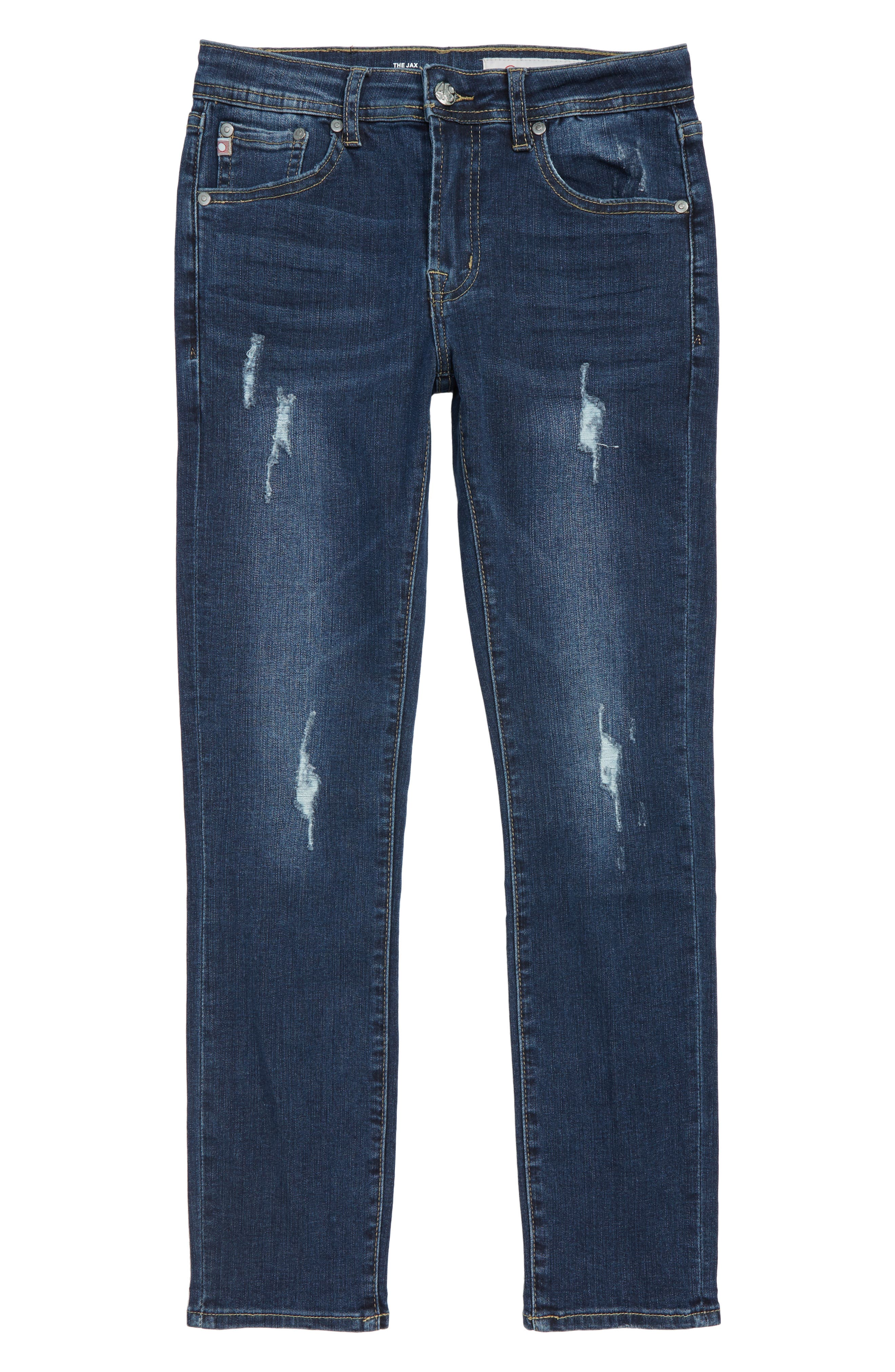 The Jax Distressed Jeans,                         Main,                         color, 490