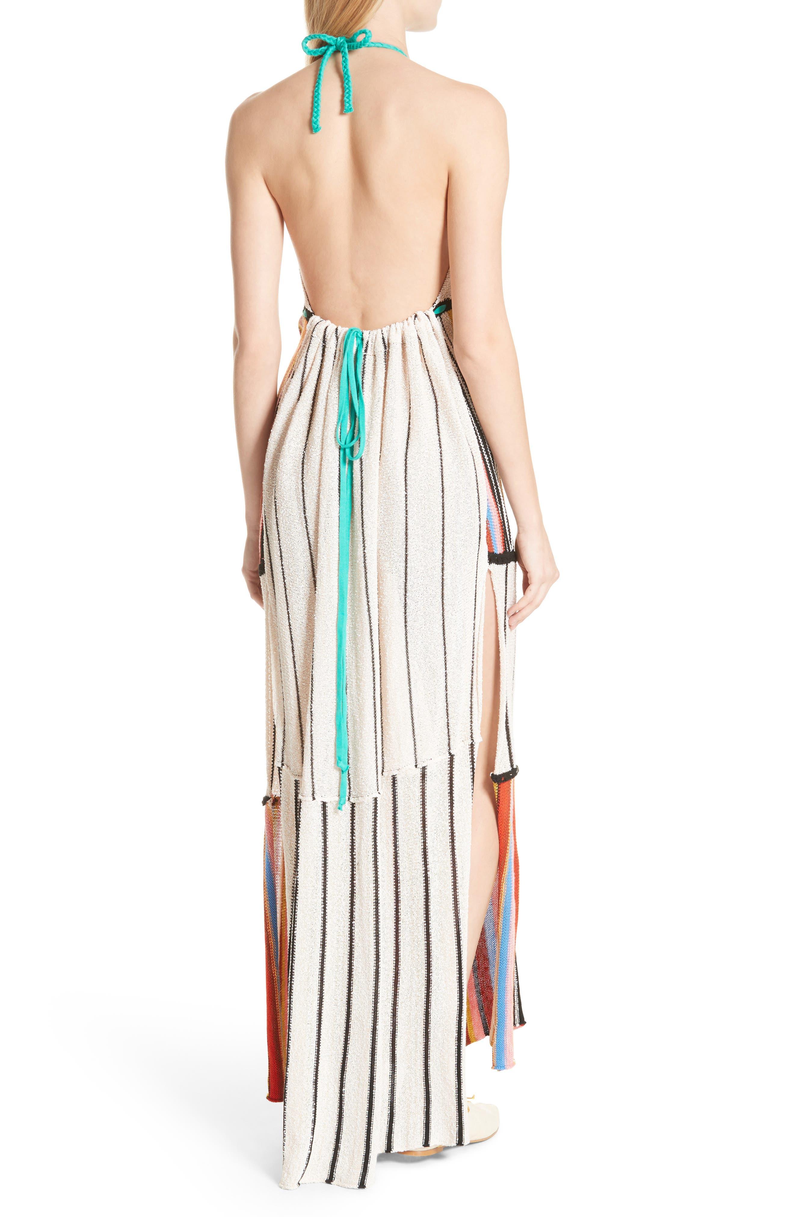 Mardi Gras Halter Maxi Dress,                             Alternate thumbnail 4, color,