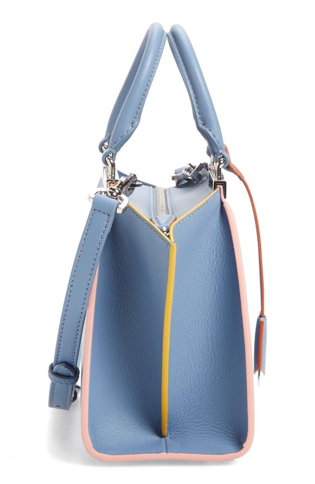 'Mini 3Jours' Calfskin Leather Shopper,                             Alternate thumbnail 24, color,