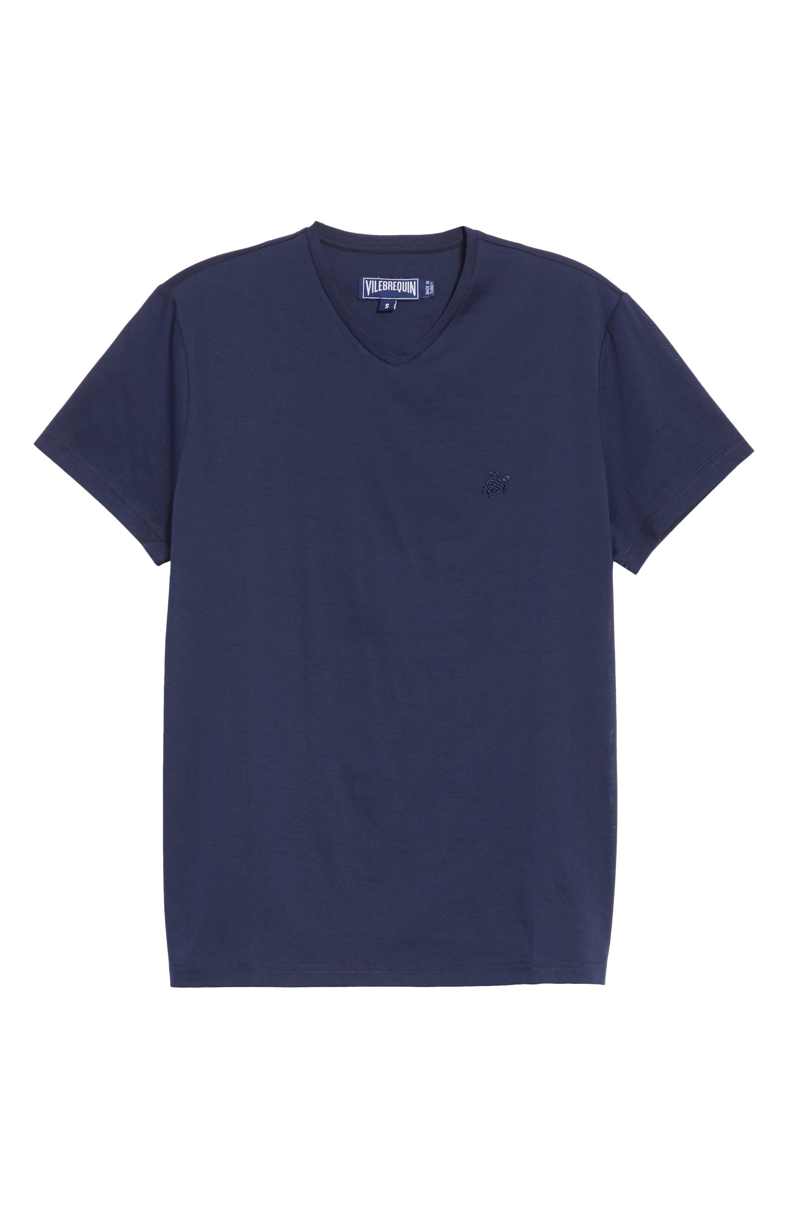 V-Neck T-Shirt,                             Alternate thumbnail 6, color,                             NAVY