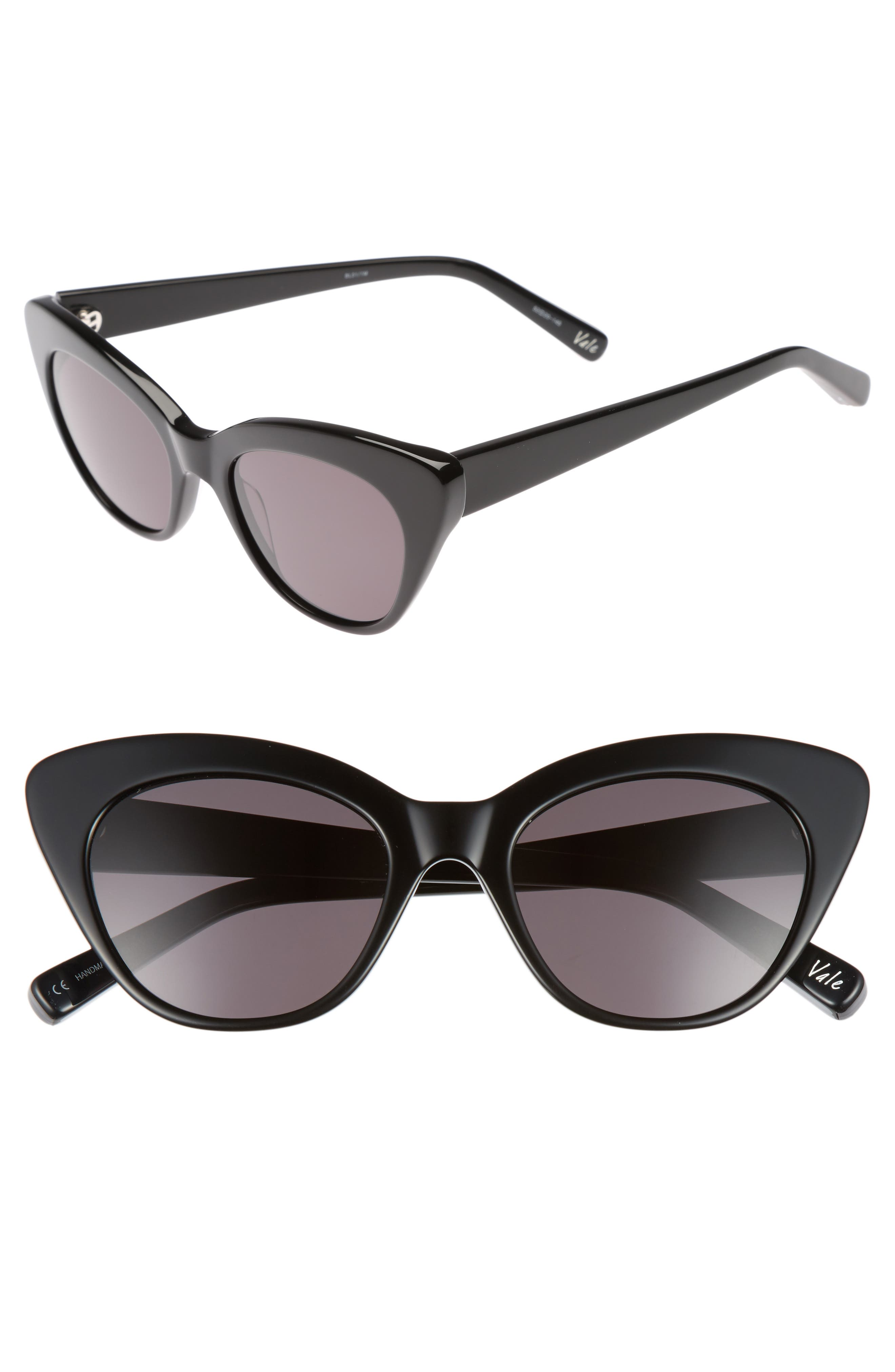 Vale 52mm Cat Eye Sunglasses,                             Main thumbnail 1, color,