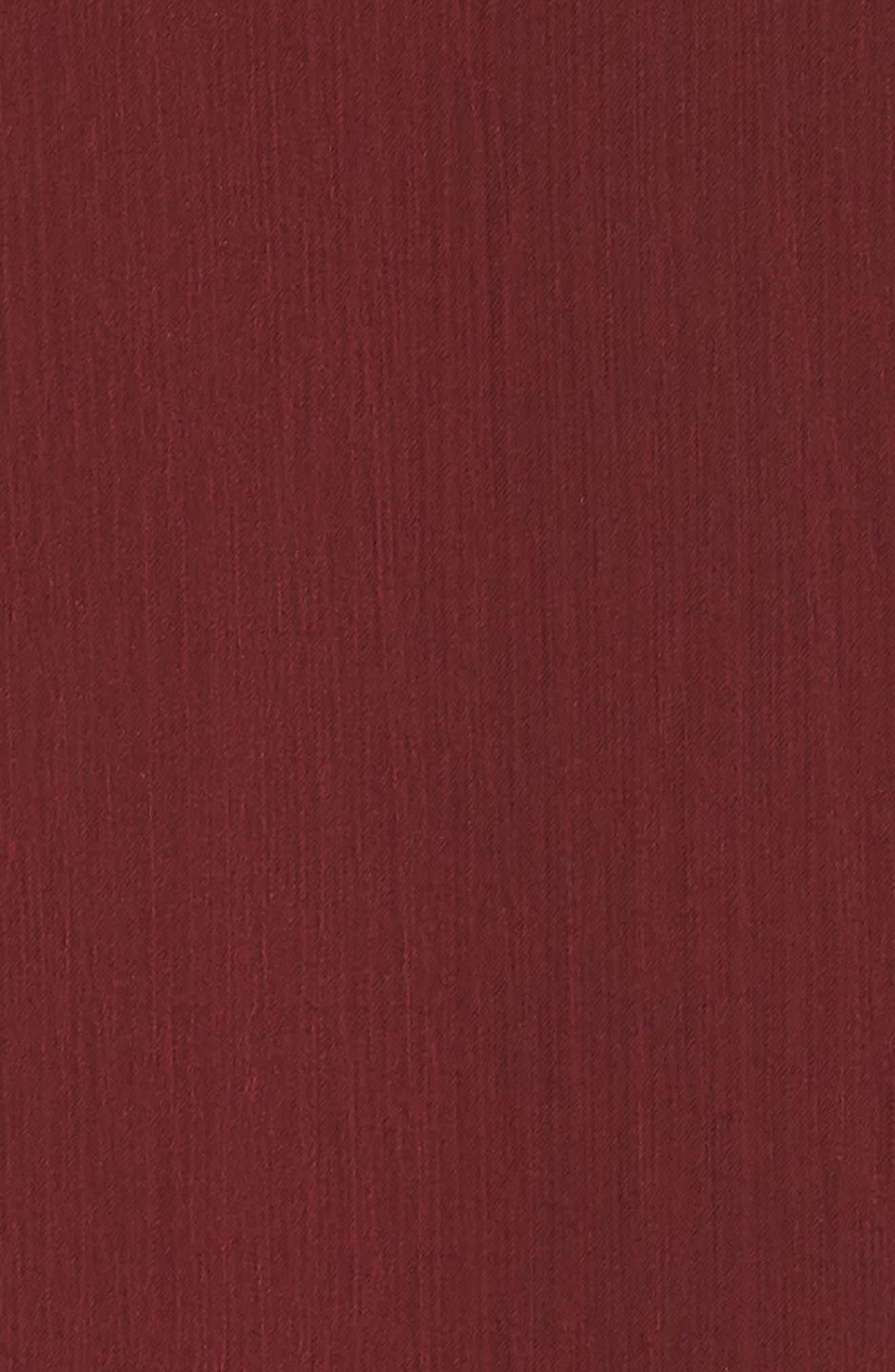 Meryl Long Sleeve Wrap Maxi Dress,                             Alternate thumbnail 6, color,                             CABERNET