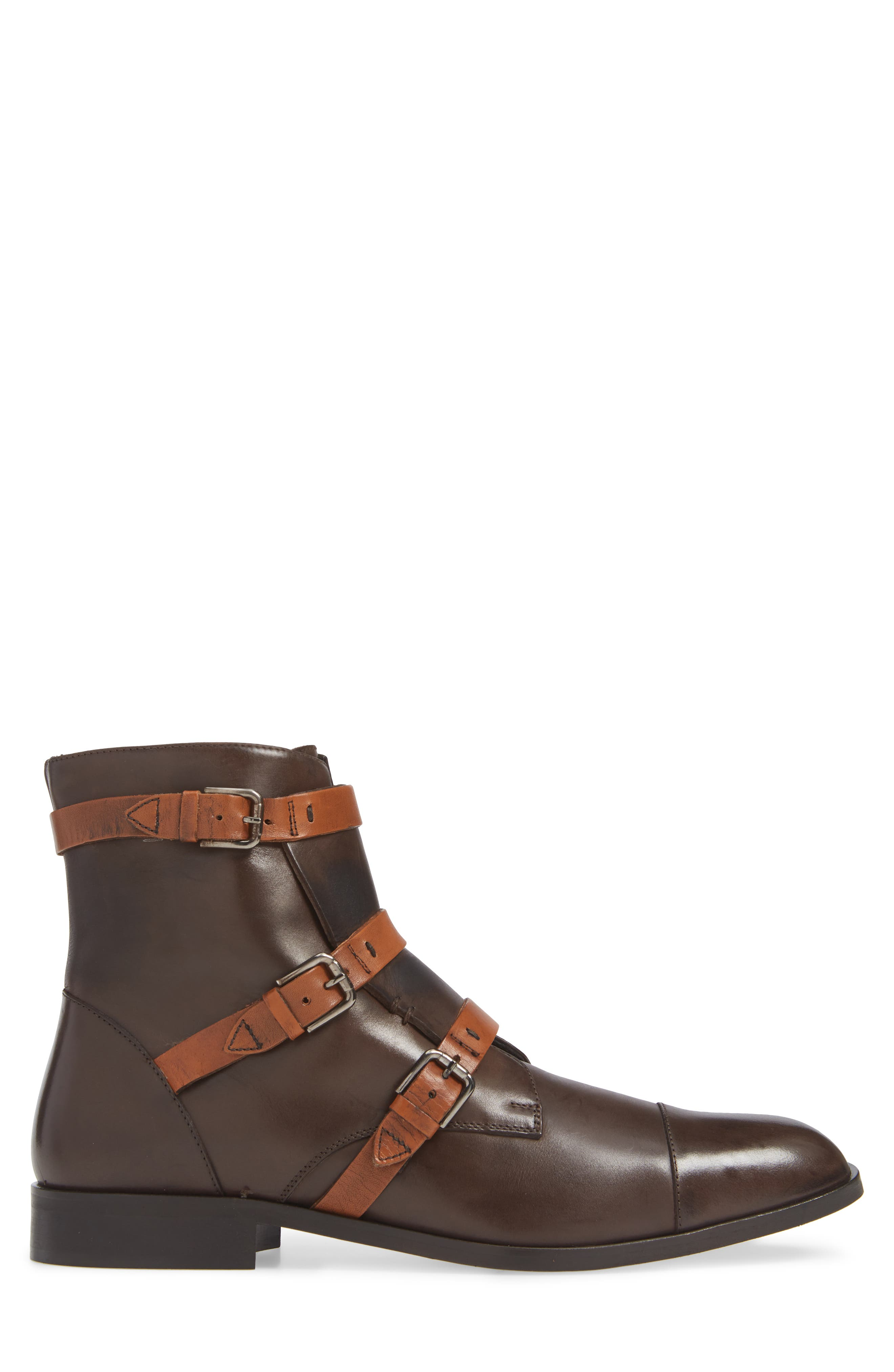 DONALD PLINER,                             Martino Buckle Strap Boot,                             Alternate thumbnail 3, color,                             205