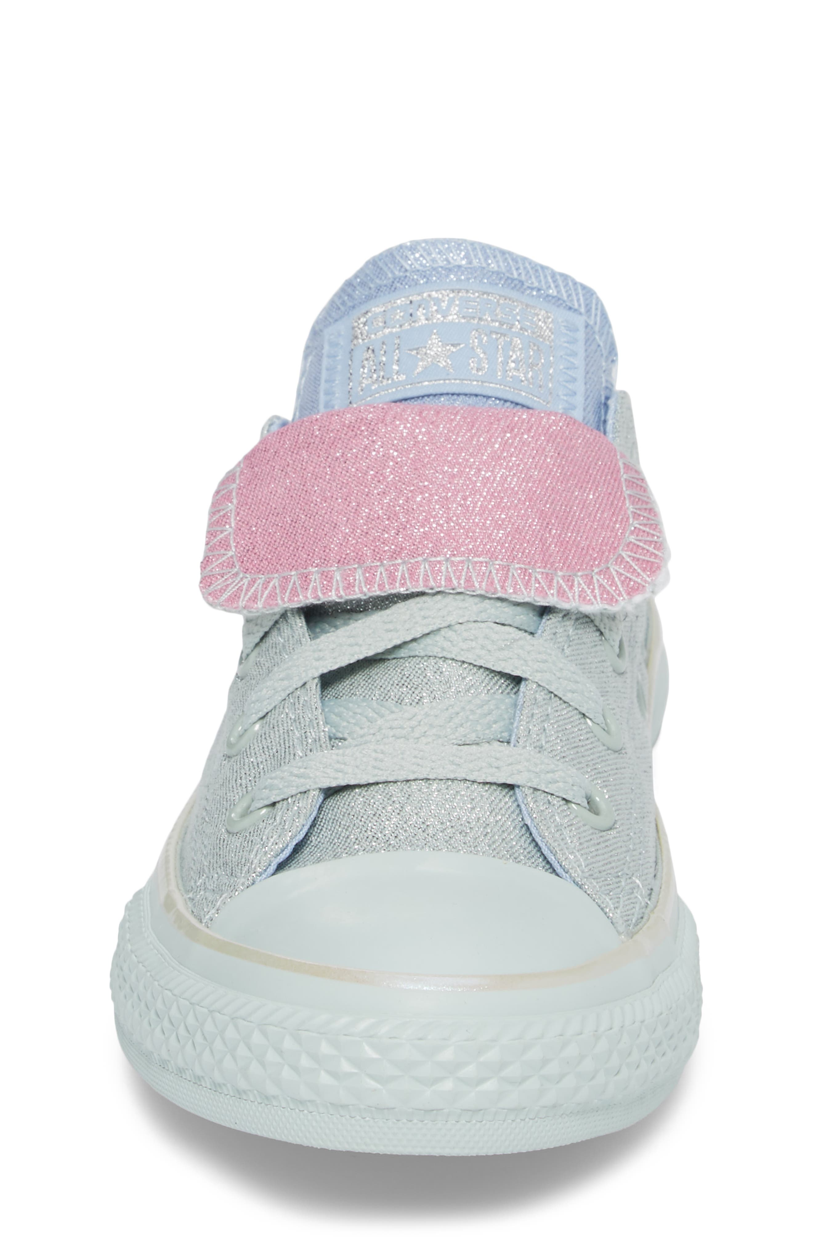 All Star<sup>®</sup> Shimmer Double Tongue Sneaker,                             Alternate thumbnail 4, color,                             301