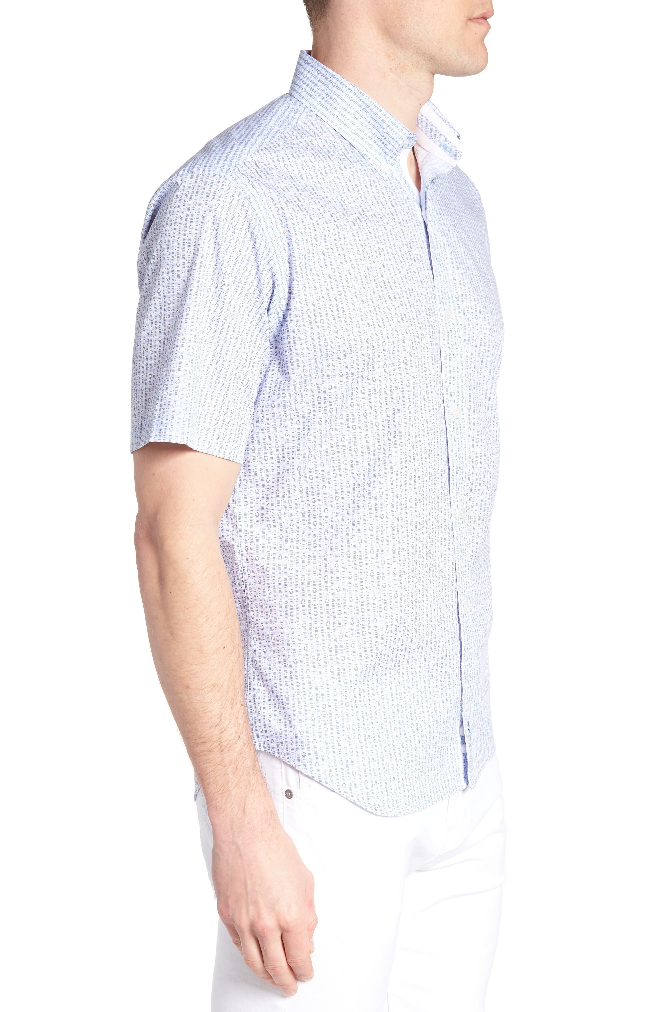 Arnie Regular Fit Sport Shirt,                             Alternate thumbnail 3, color,                             450