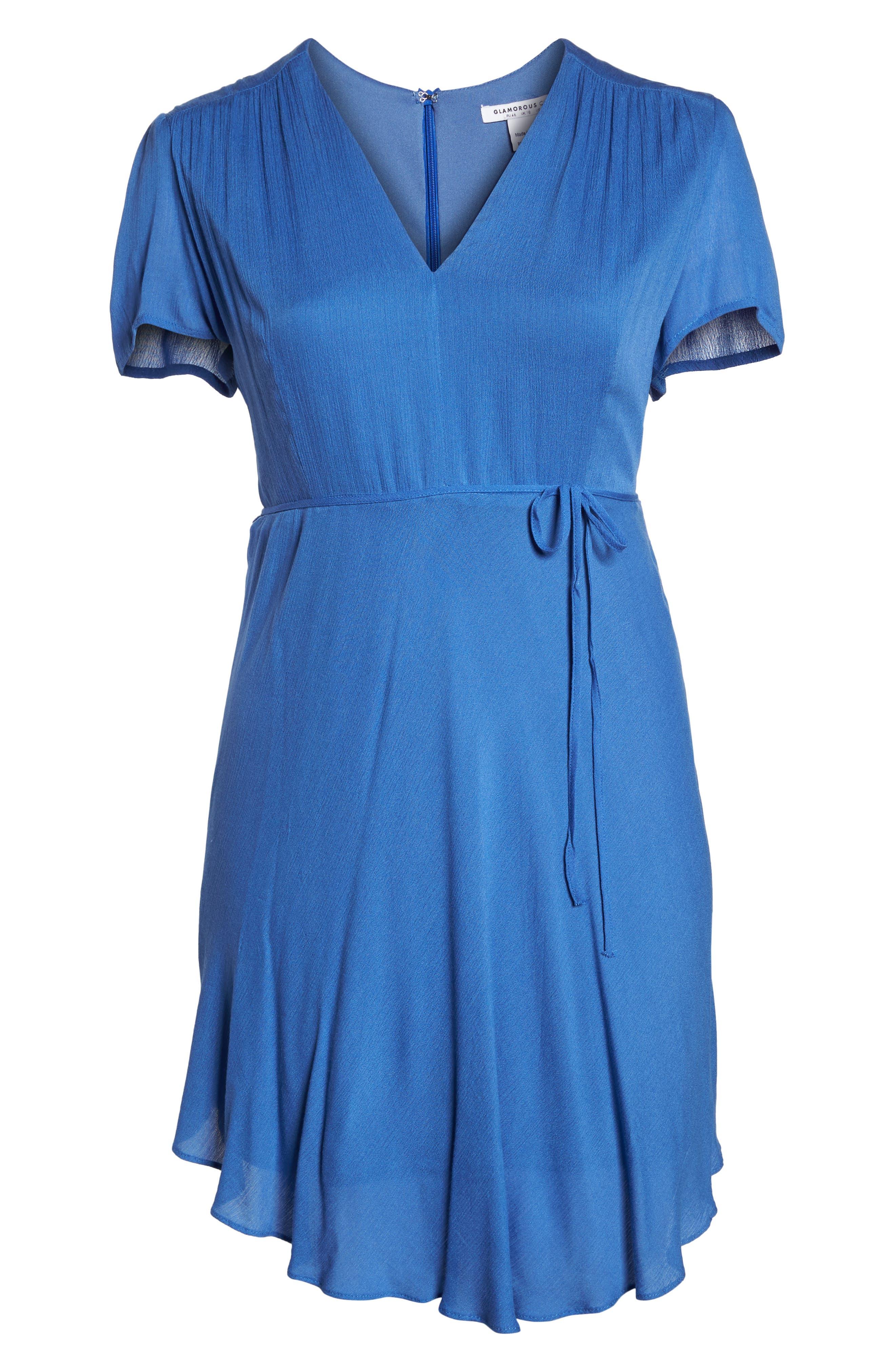 Tie Waist Tea Dress,                             Alternate thumbnail 7, color,