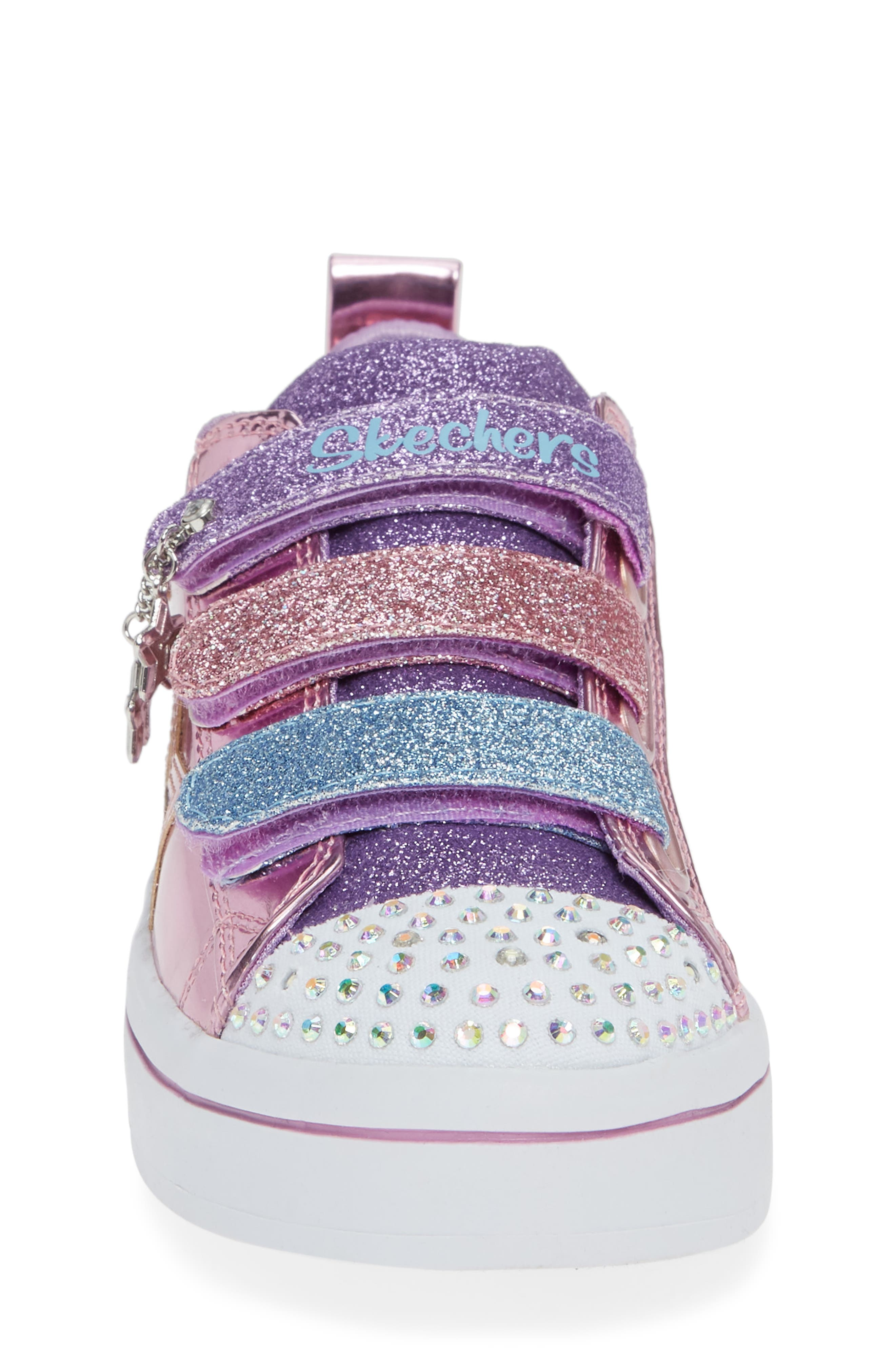 Twi-Lites Star Light-Up Sneaker,                             Alternate thumbnail 4, color,                             PINK/ MULTI