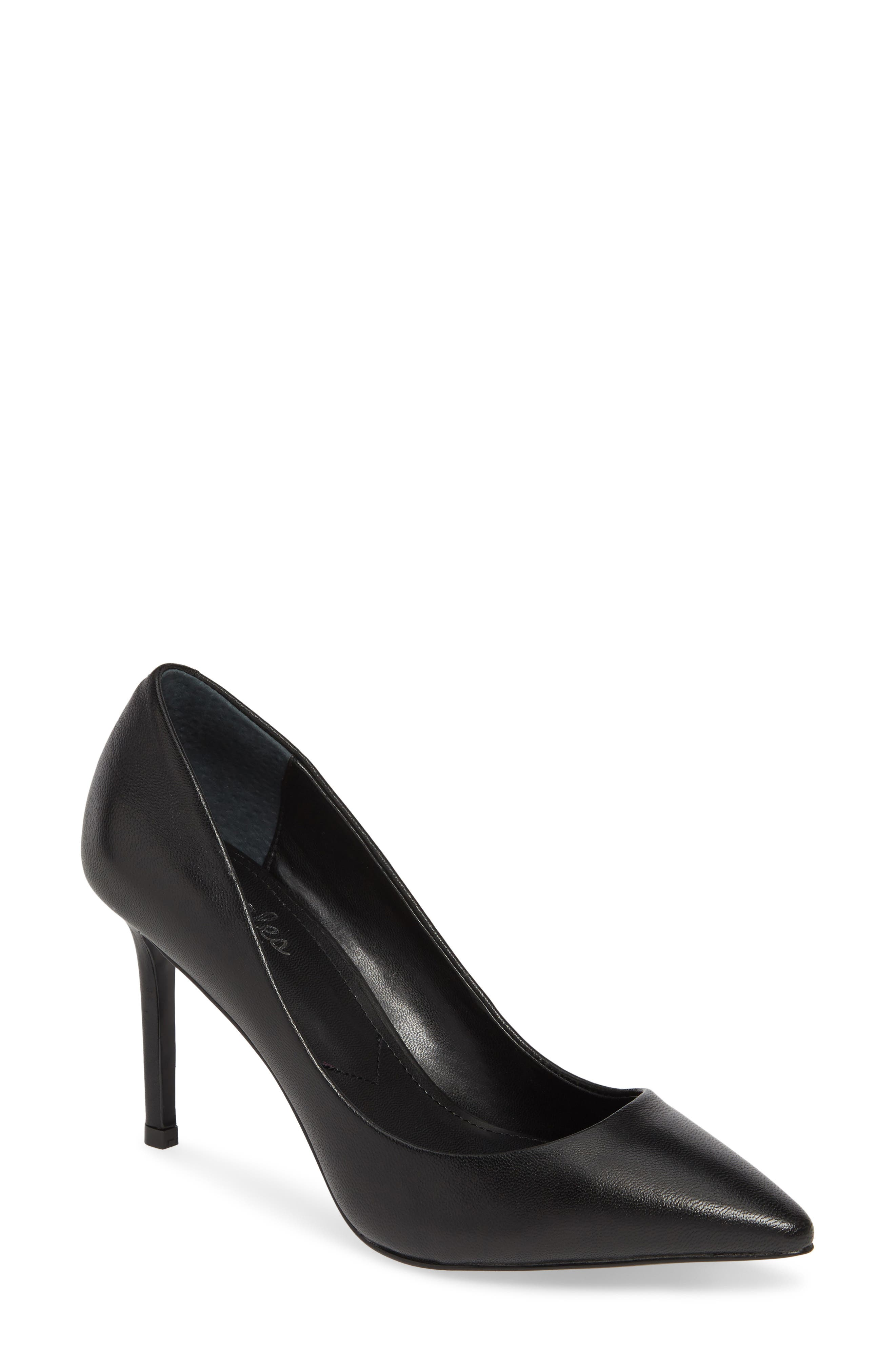CHARLES BY CHARLES DAVID,                             Vicky Pump,                             Main thumbnail 1, color,                             BLACK LEATHER