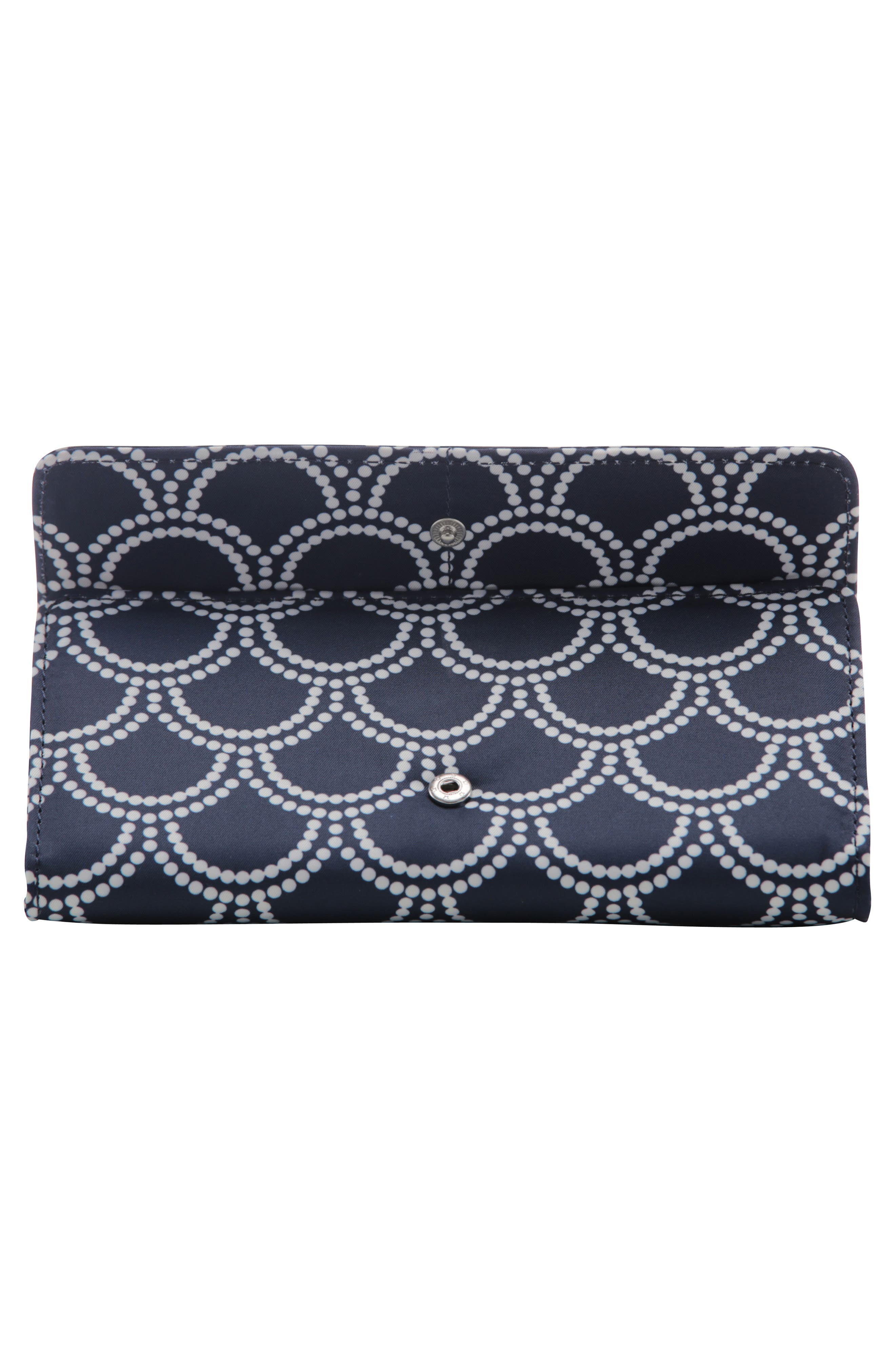 Be Rich - Coastal Collection Trifold Clutch Wallet,                             Alternate thumbnail 2, color,                             NEWPORT