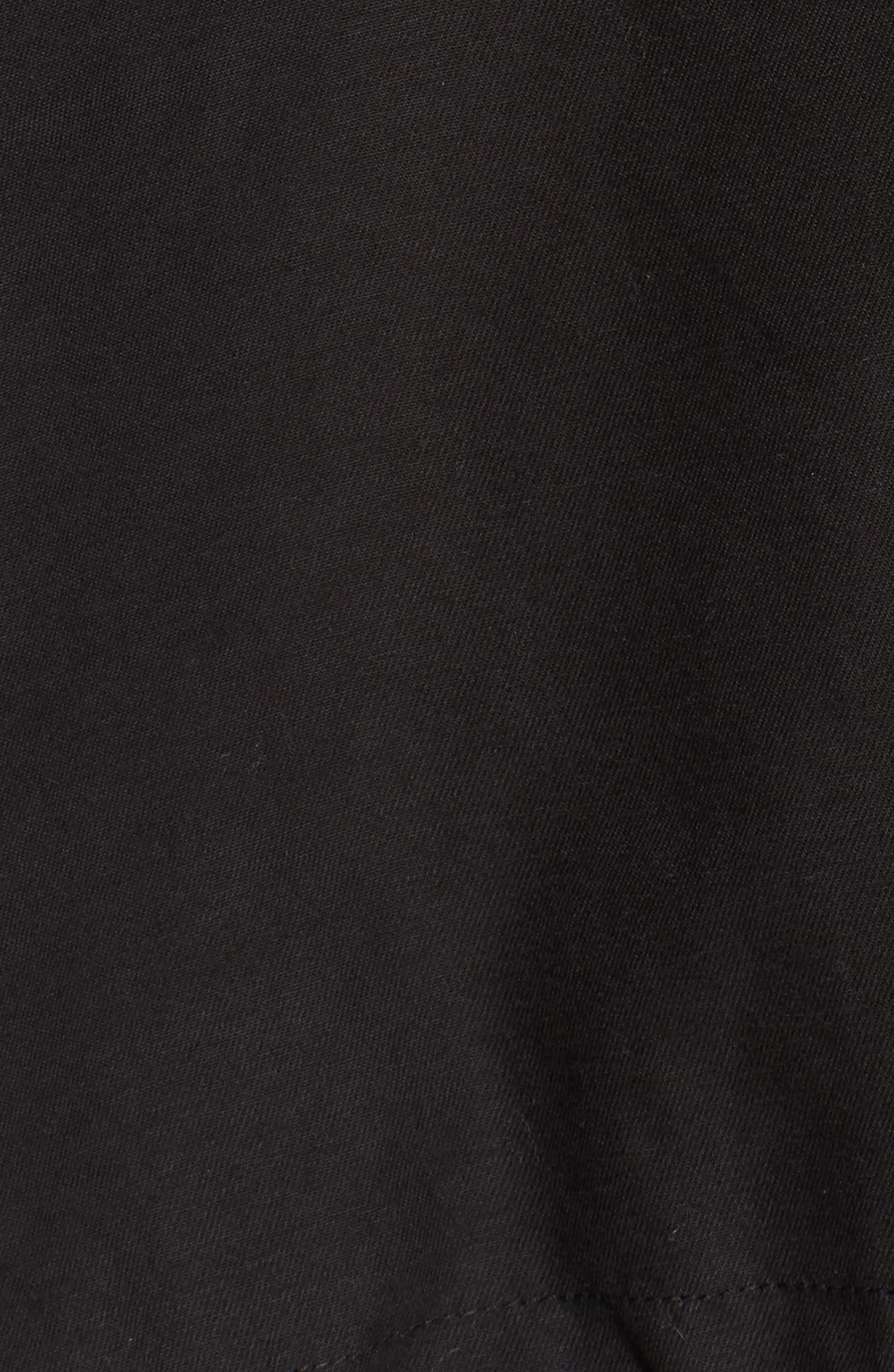 Hooded Cotton Utility Jacket,                             Alternate thumbnail 6, color,                             001