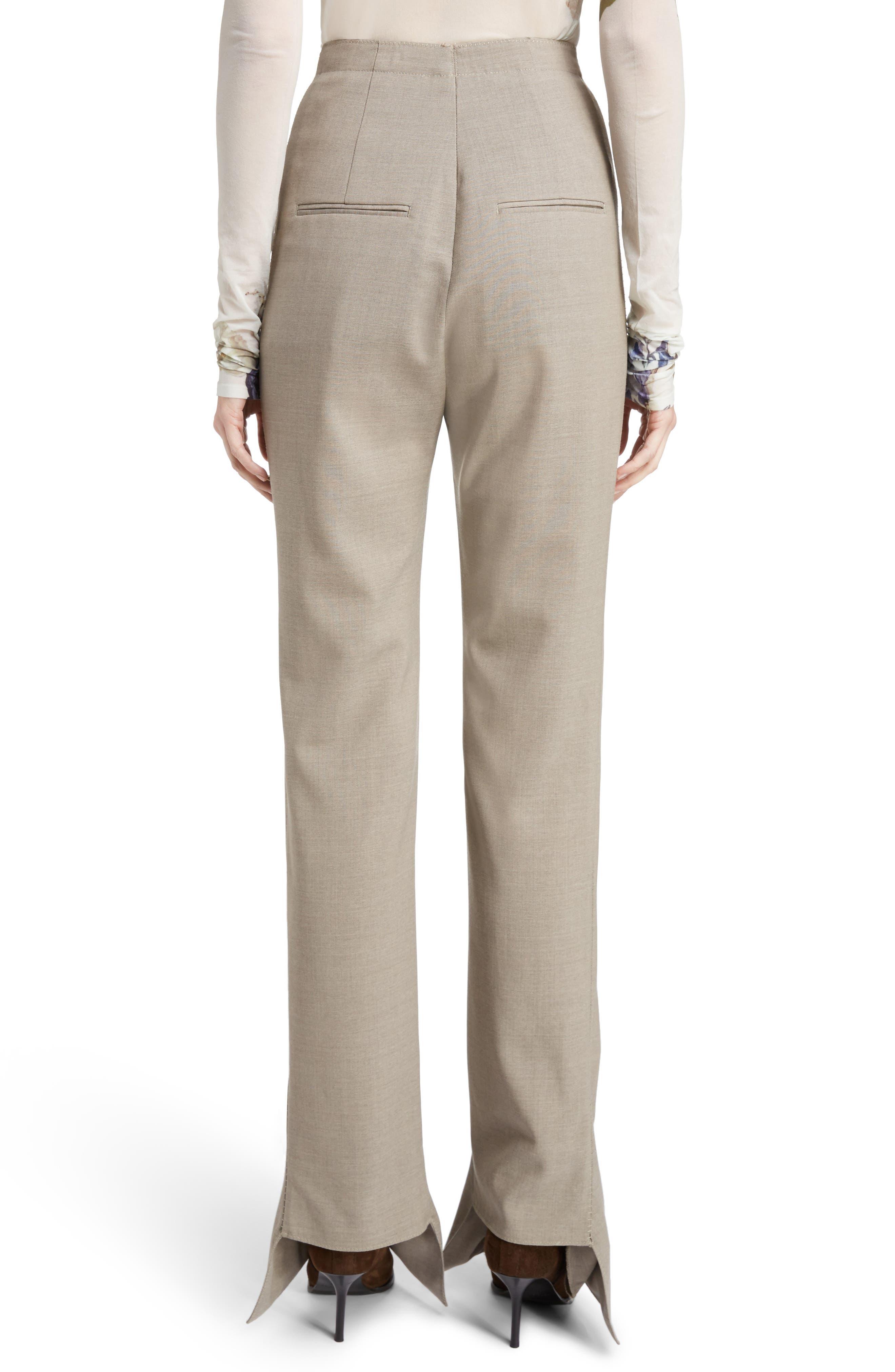 Toni Fluid Wide Leg Wool Pants,                             Alternate thumbnail 2, color,                             250
