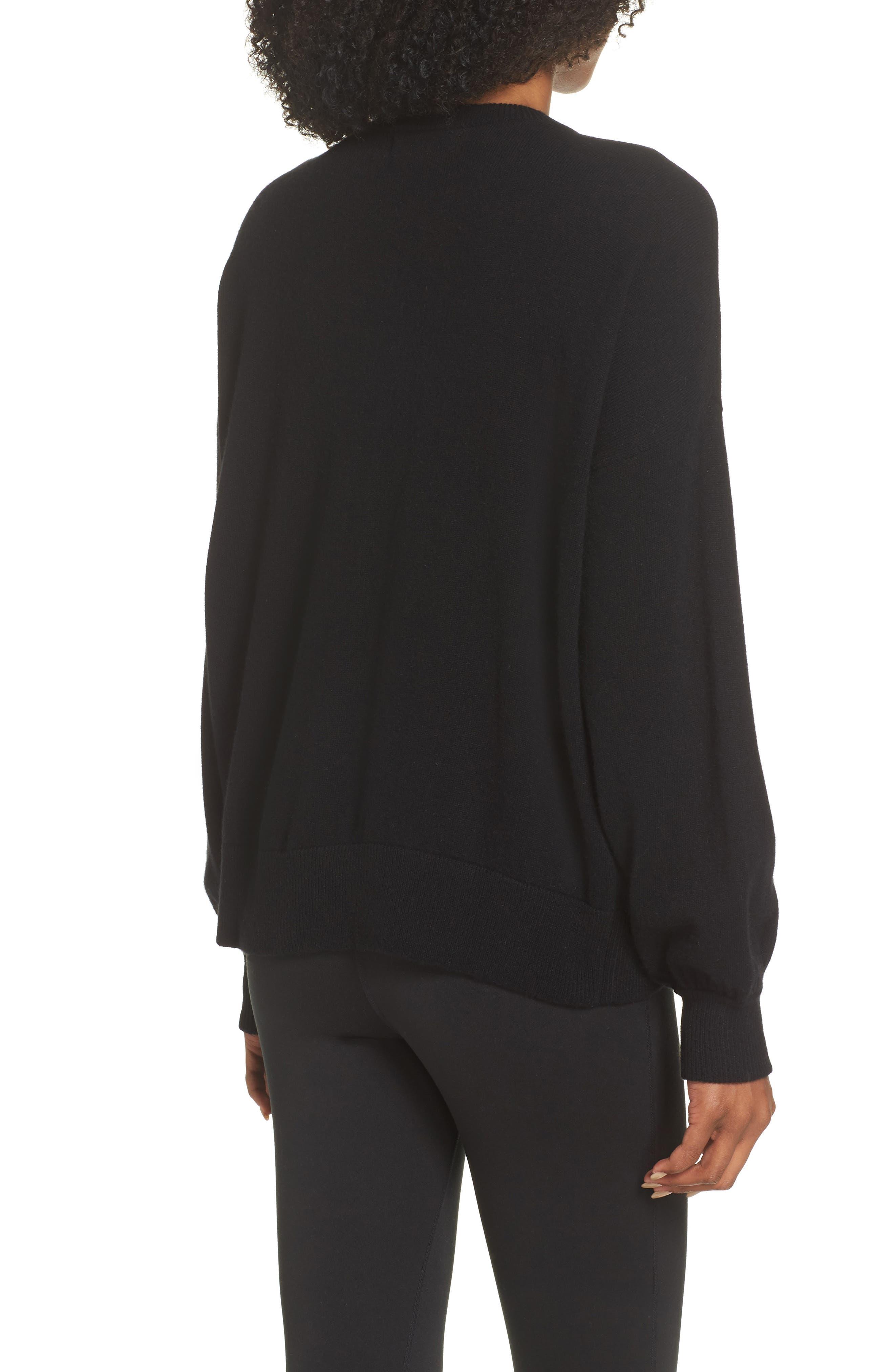 Intarsia Logo Wool & Cashmere Sweater,                             Alternate thumbnail 2, color,                             001