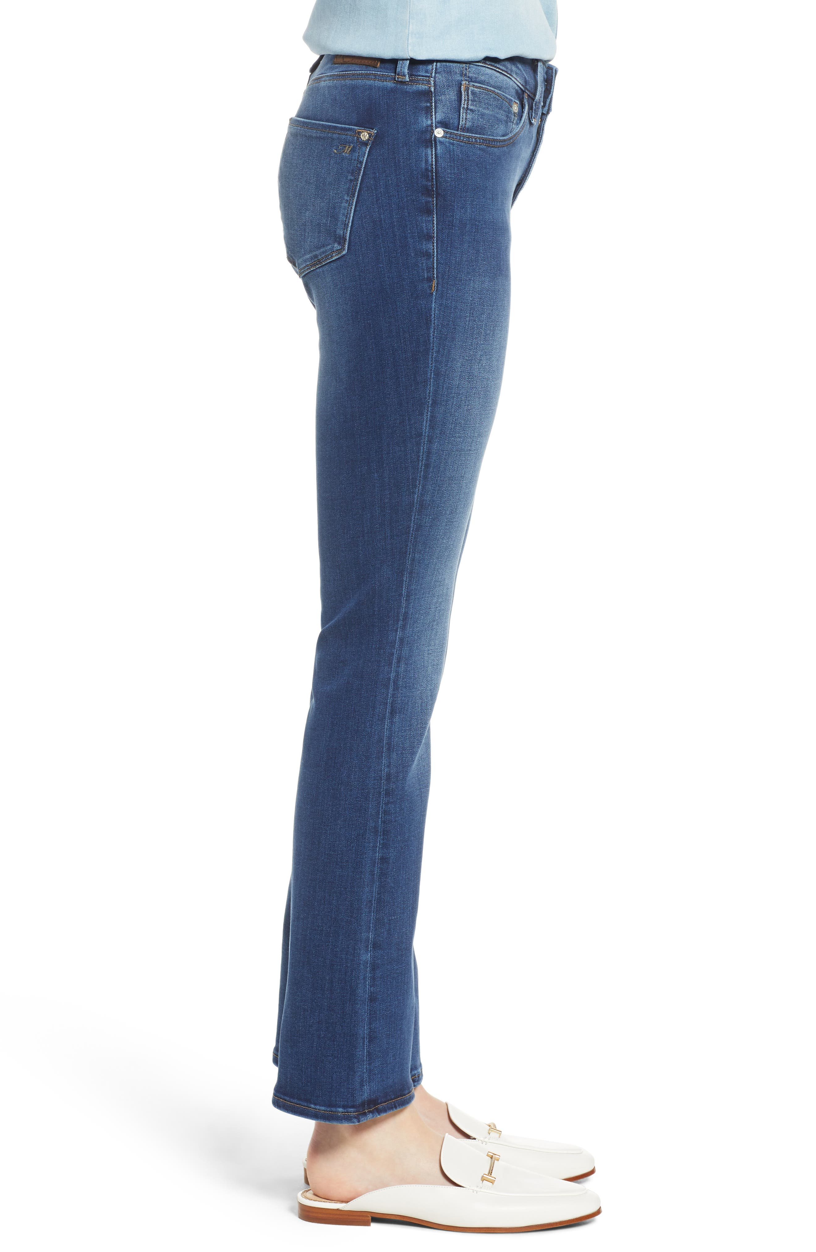 Molly Classic Bootcut Jeans,                             Alternate thumbnail 3, color,                             INDIGO SUPERSOFT