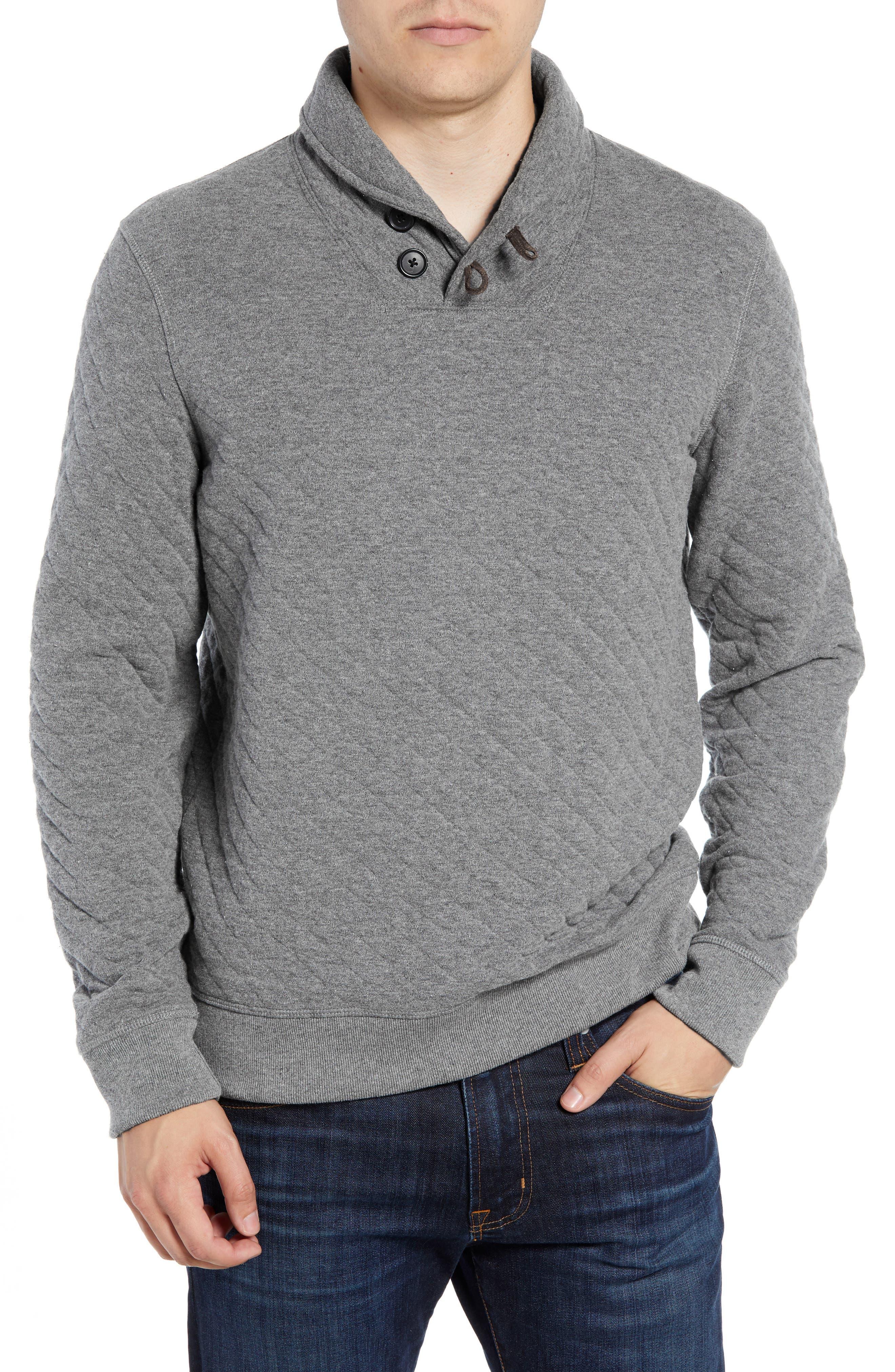 Shawl Collar Pullover,                         Main,                         color, MEDIUM GREY