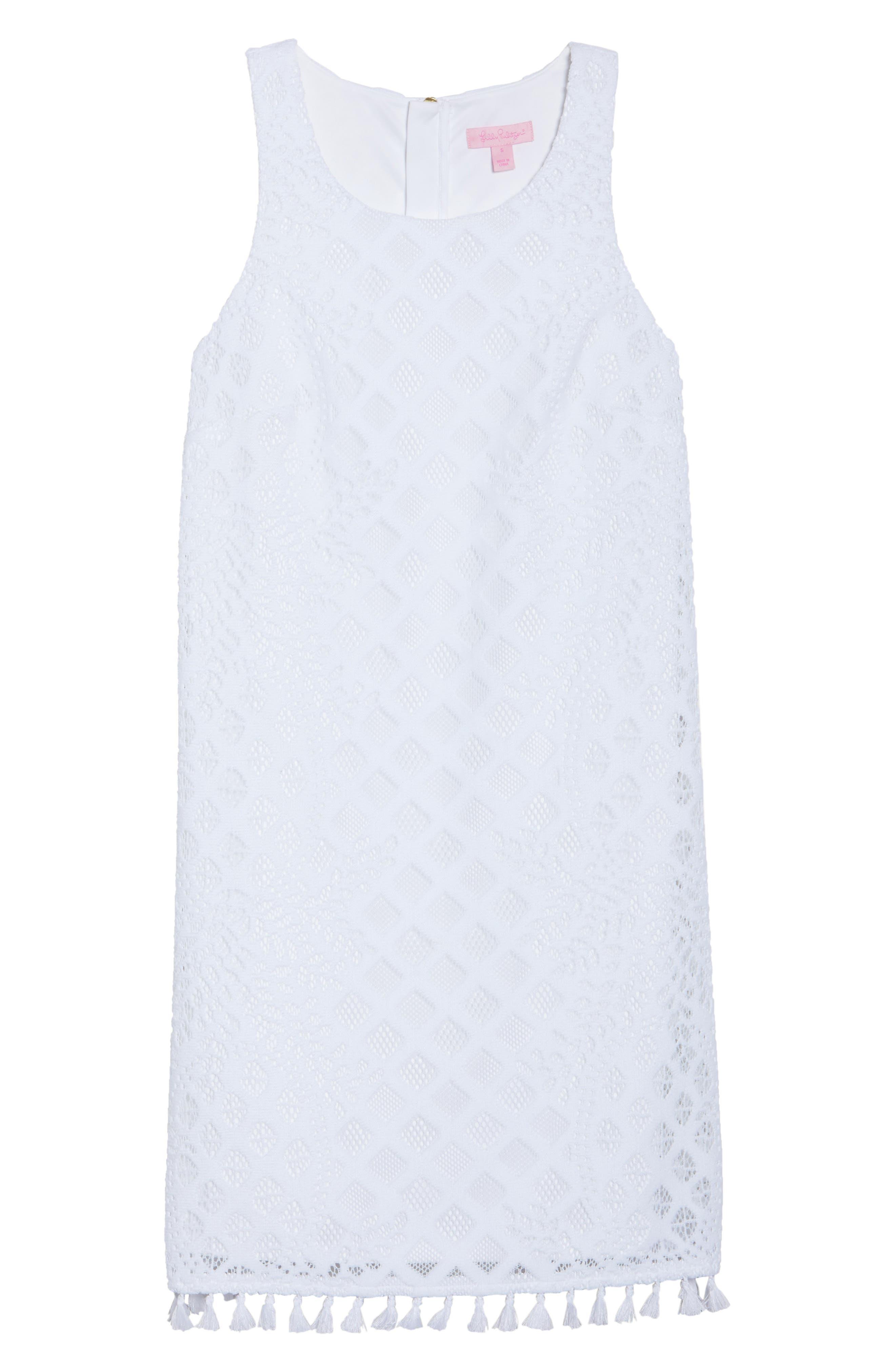 Marquette Lace Shift Dress,                             Alternate thumbnail 6, color,                             115
