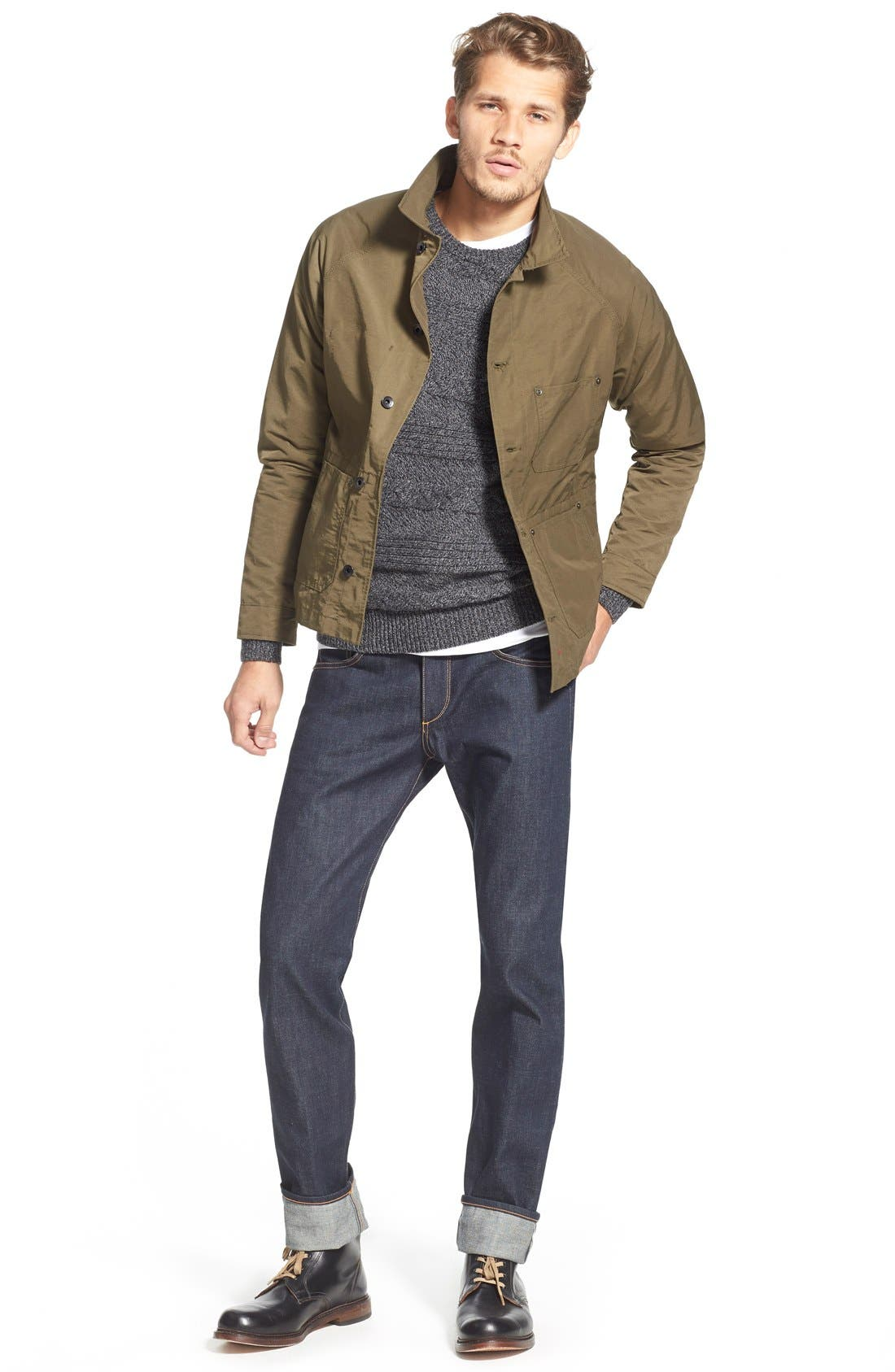 Standard Issue Fit 2 Slim Fit Raw Selvedge Jeans,                             Alternate thumbnail 2, color,                             INDIGO
