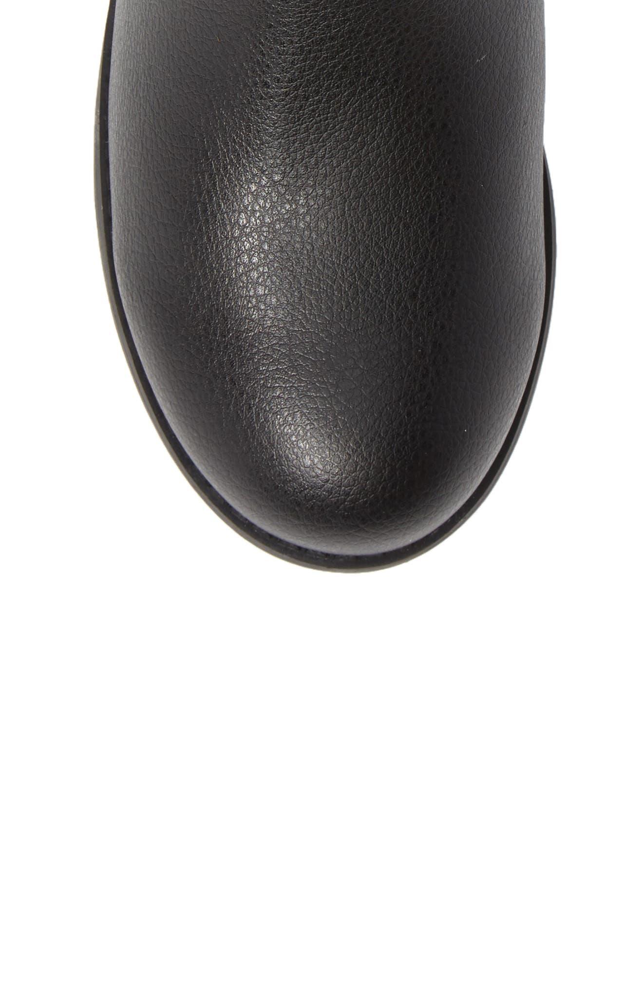 Emma Quinn Faux Leather Glitter Riding Boot,                             Alternate thumbnail 5, color,                             BLACK