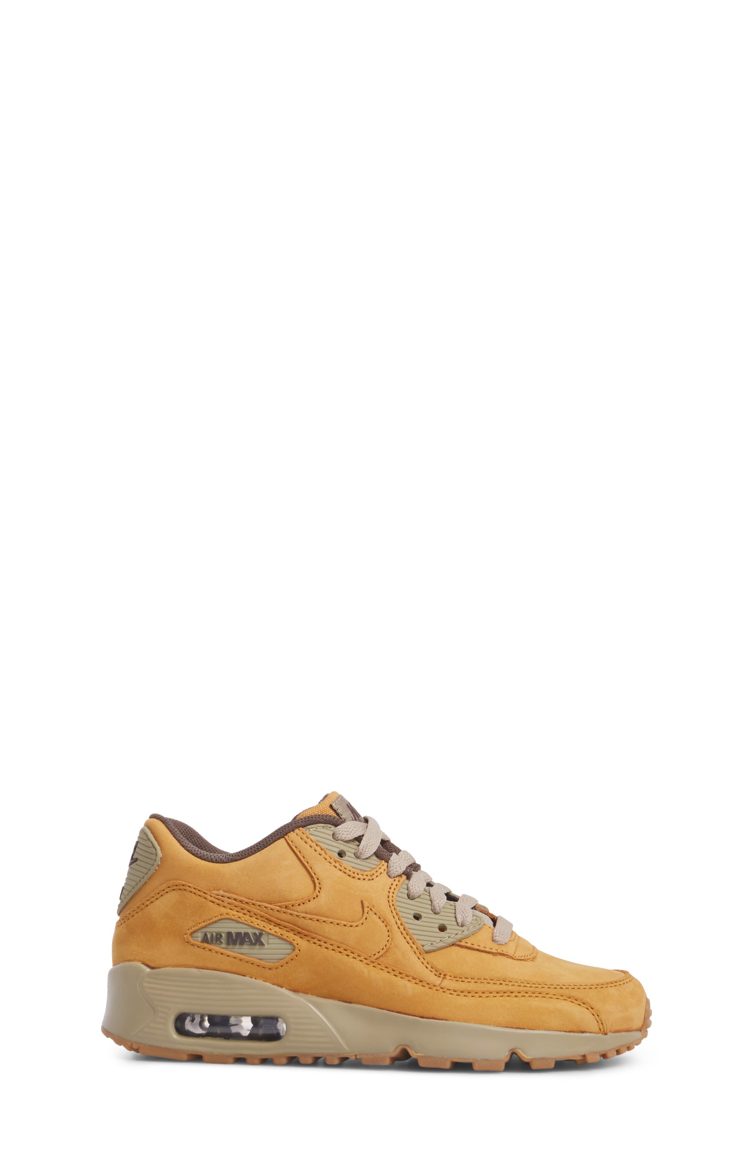 Air Max 90 Winter Premium Sneaker,                             Alternate thumbnail 3, color,                             BRONZE